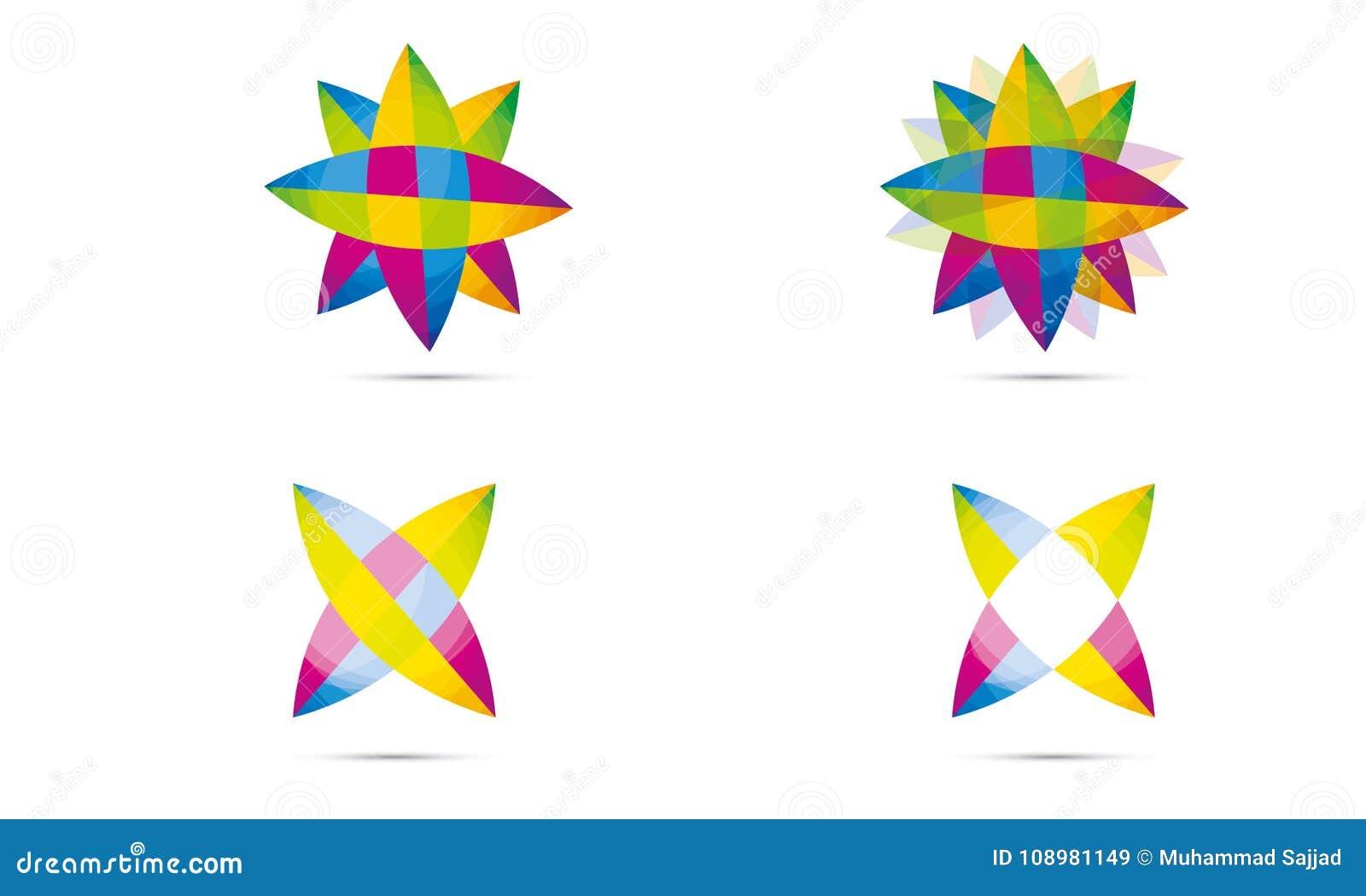 Set Abstrakta Sfera Logo Zaokrąglający Globle Kurenda Logo Szablon Nowożytny Firma loga symbolu wektor