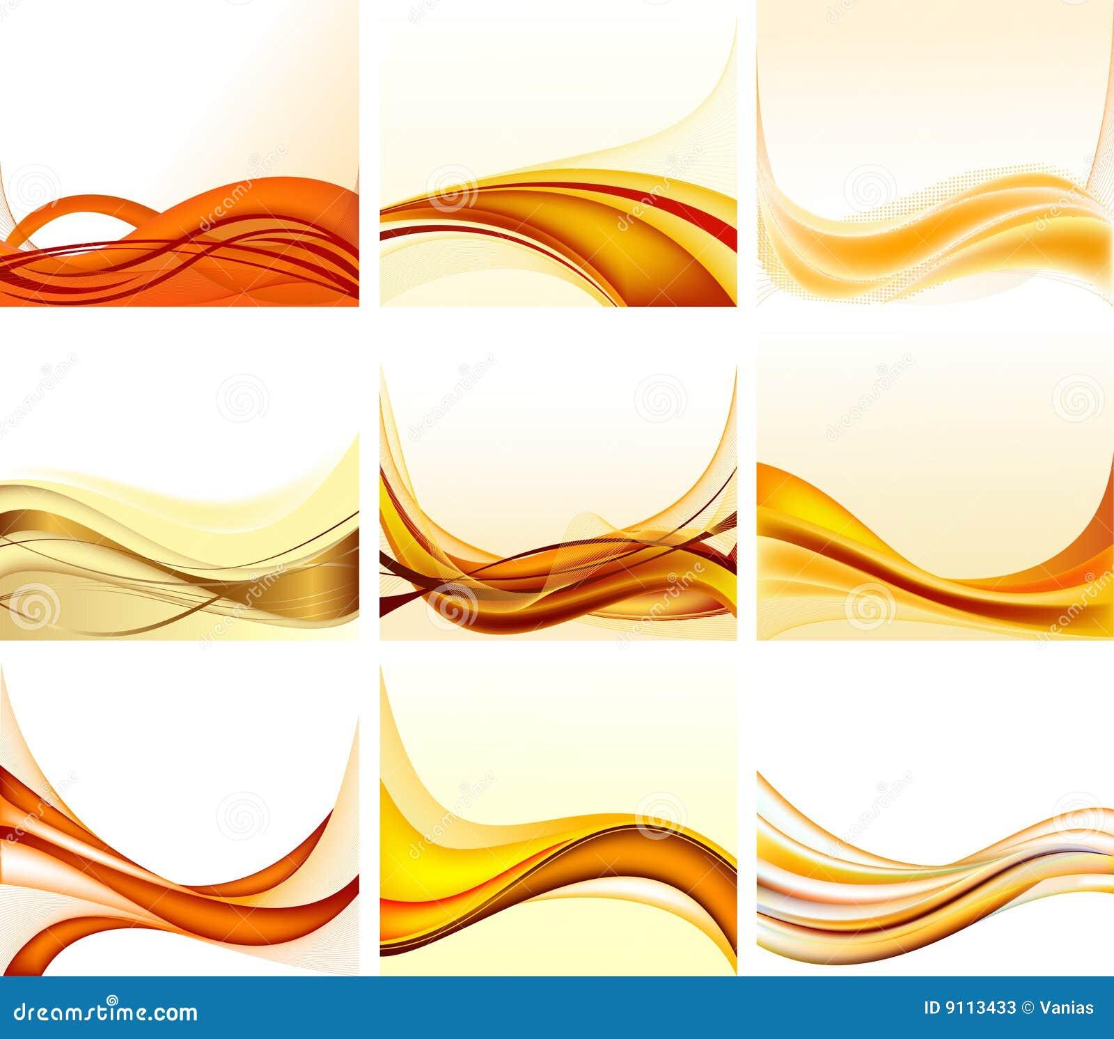 Set abstrakte Hintergründe
