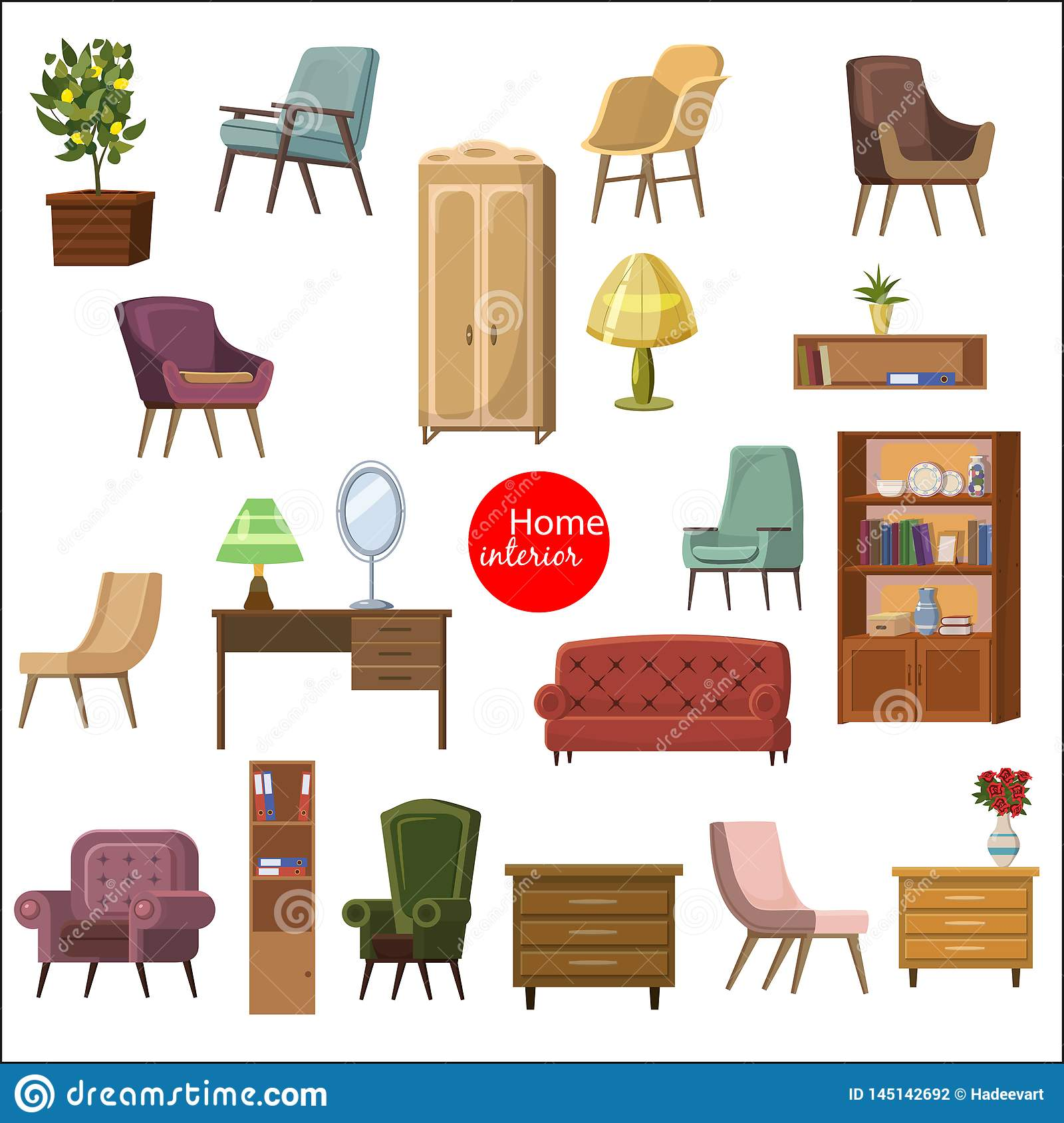Enjoyable Set Of Accessories And Furniture Armchairs Of Different Beatyapartments Chair Design Images Beatyapartmentscom