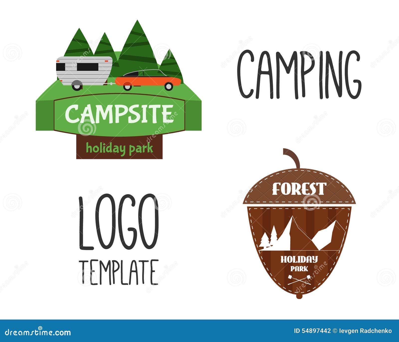 Set Of Adventure Outdo... Summer Camp Vector