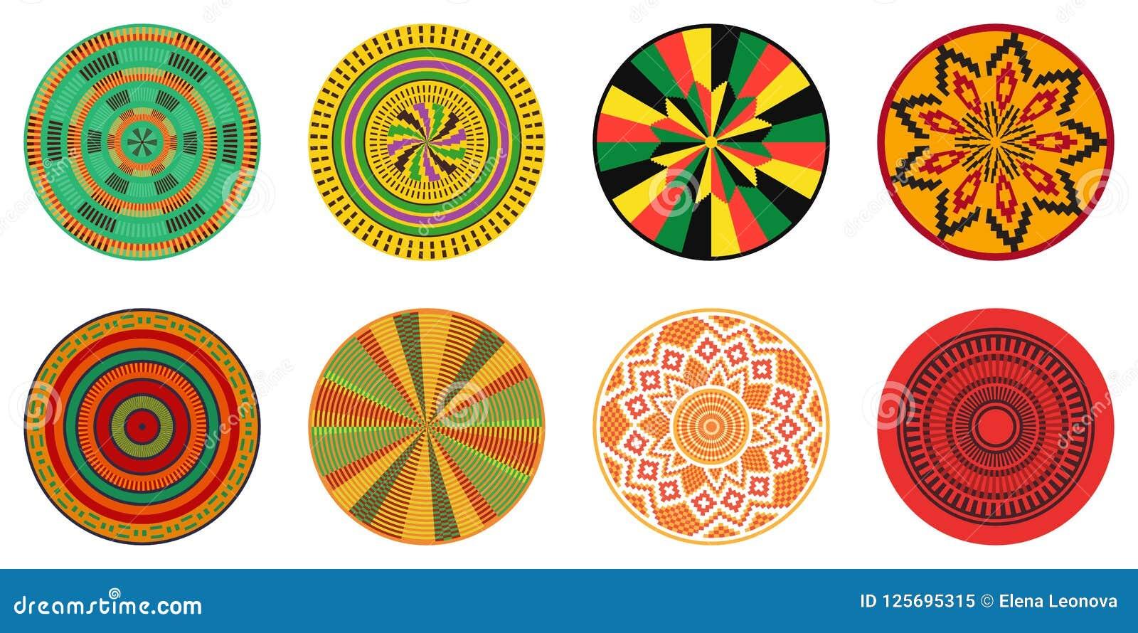 Set of African decorative elements. Tribal print.