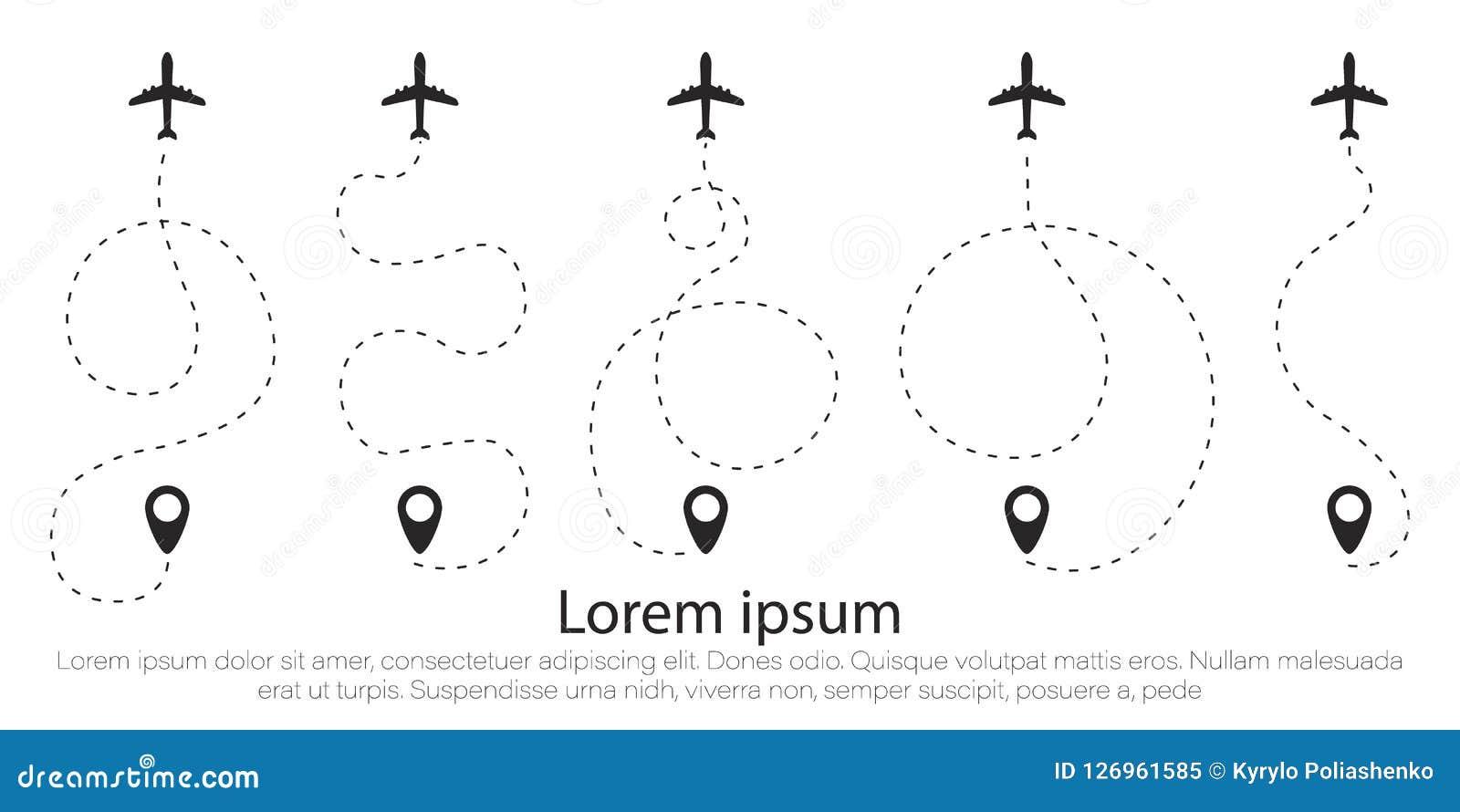 Set airplane, line.
