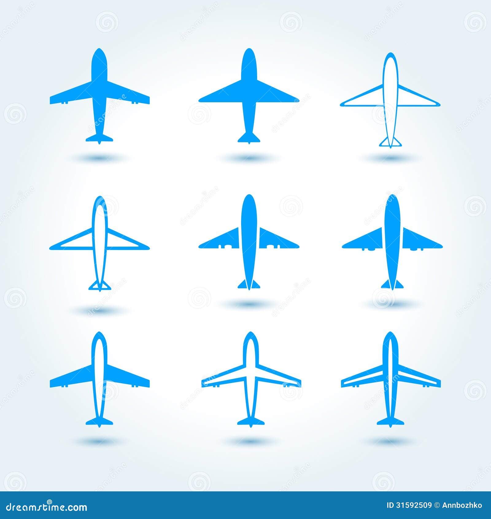 Set Of Airplane Symbol Illustration 31592509 Megapixl