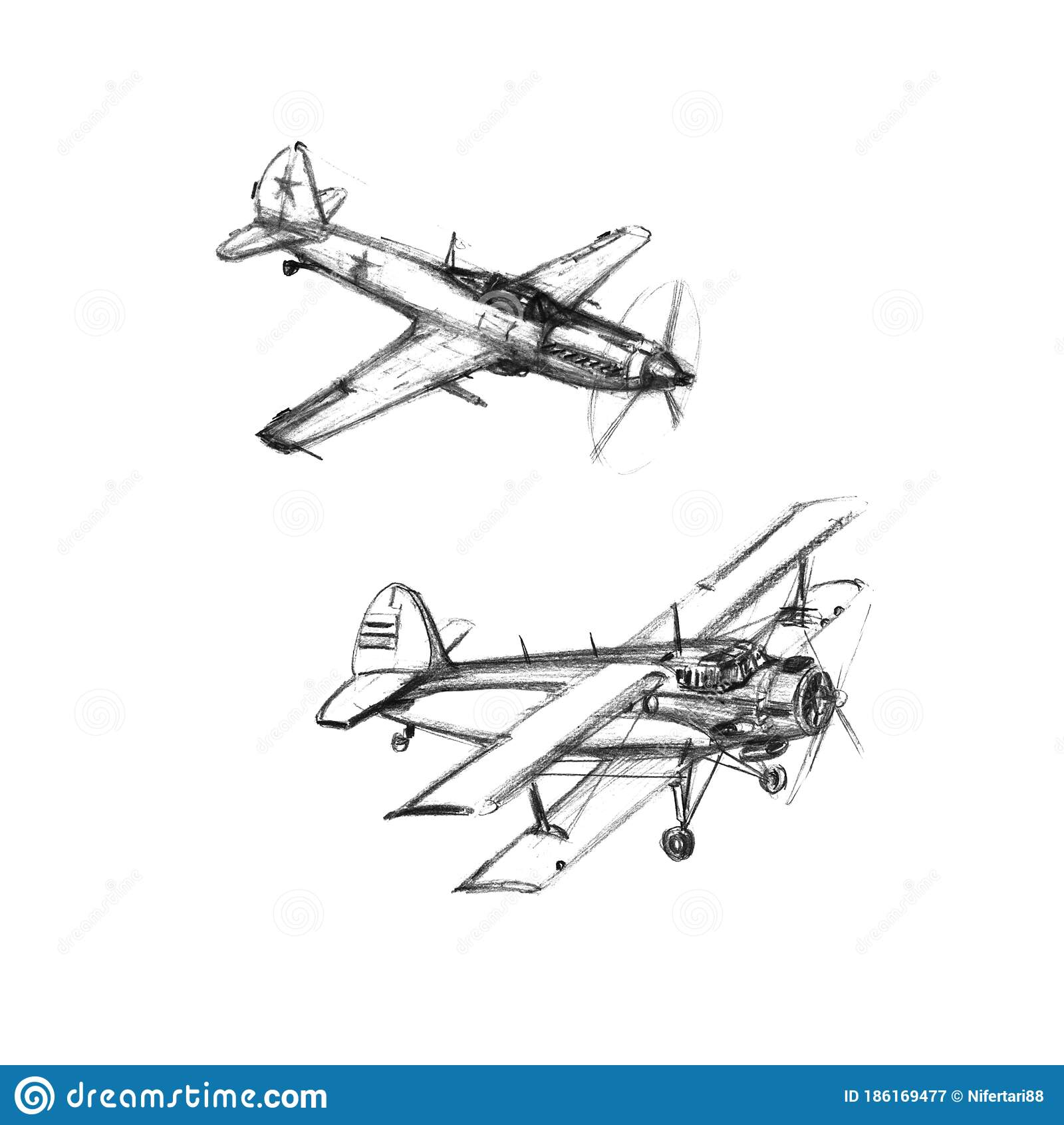 set of airplanes on a white background hand drawn pencil illustrations black and white stock illustration illustration of plane modern 186169477
