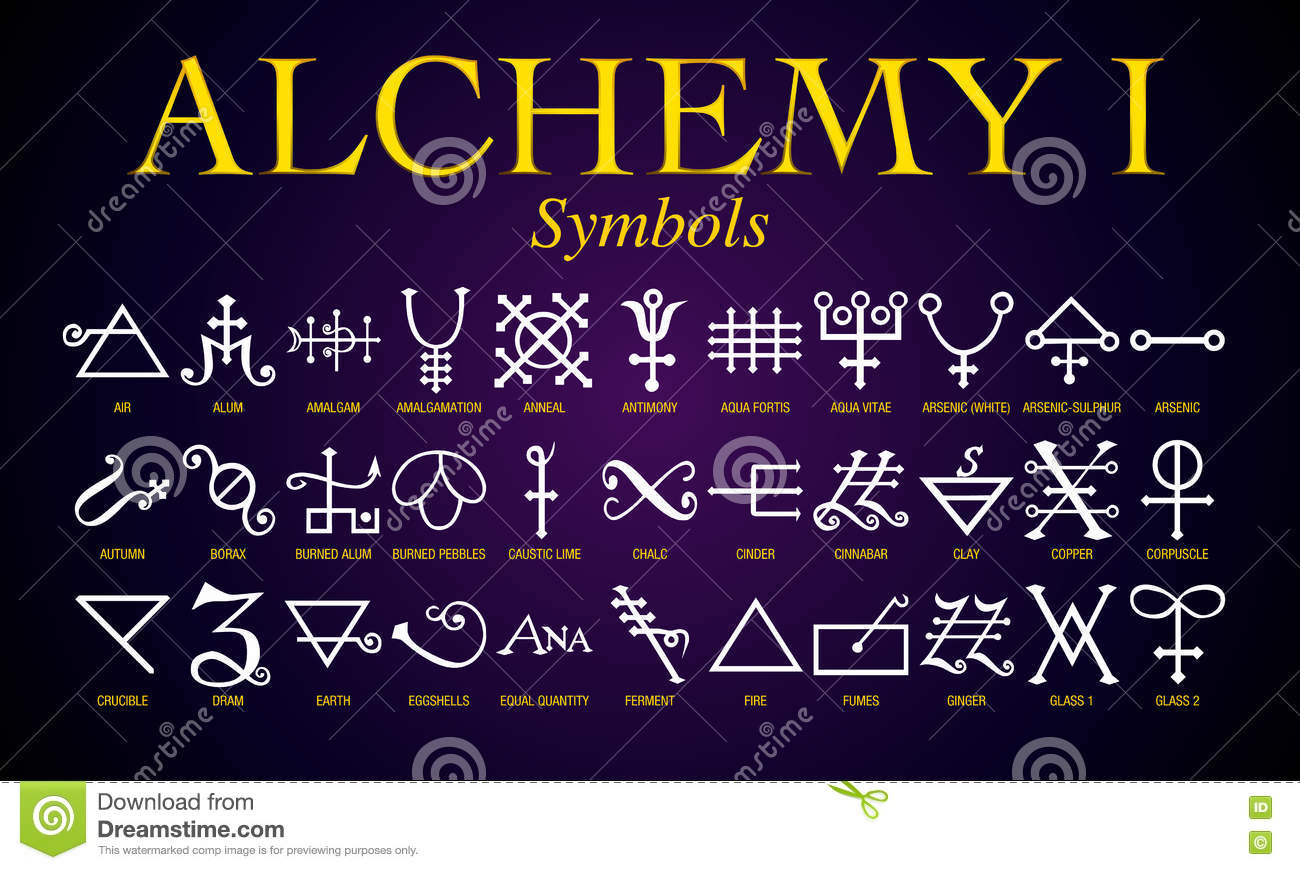 Set of alchemy symbols stock vector illustration of alphabet set of alchemy symbols biocorpaavc Choice Image