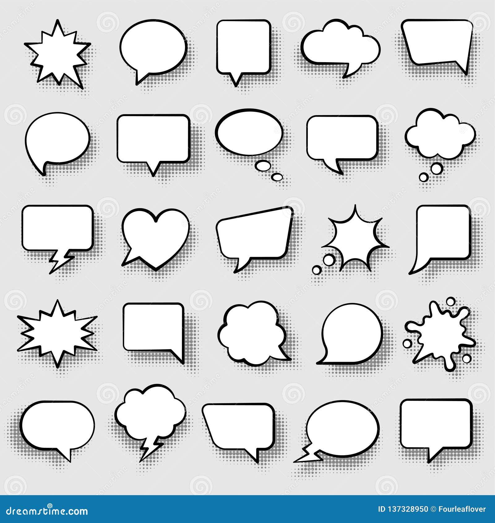 Set anförande för bubblakomiker