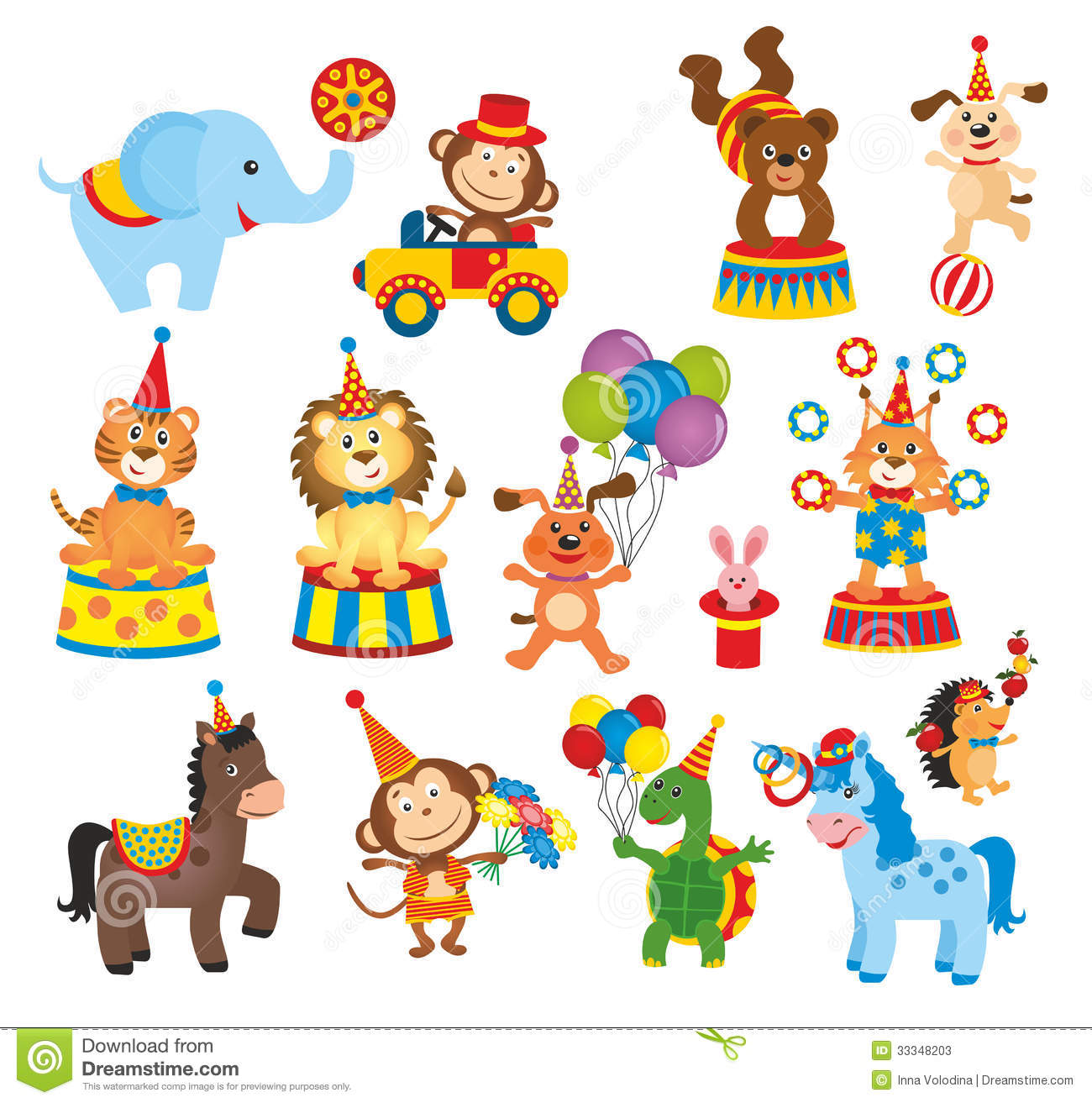 set of animals in circus stock illustration illustration white tiger clipart cubs White Tiger Face