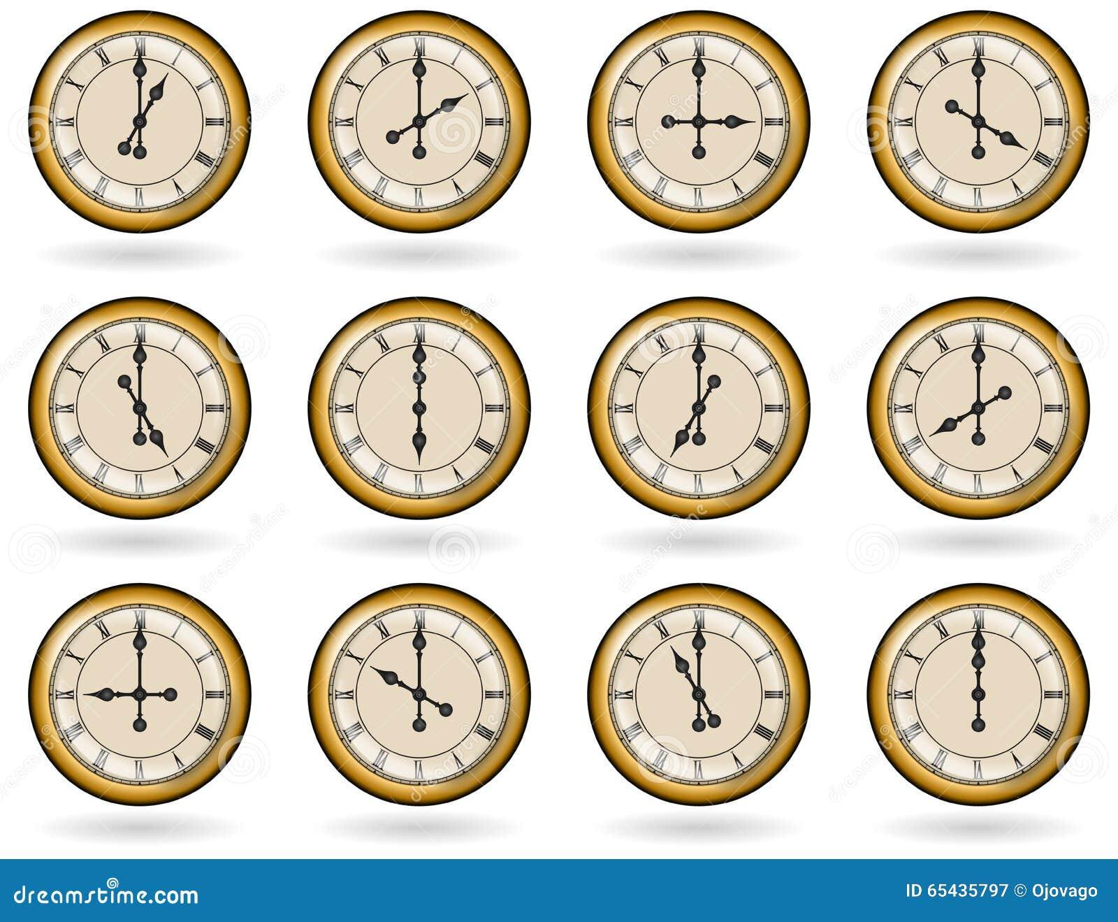 Set antyk osiąga dla biznesowych godzin
