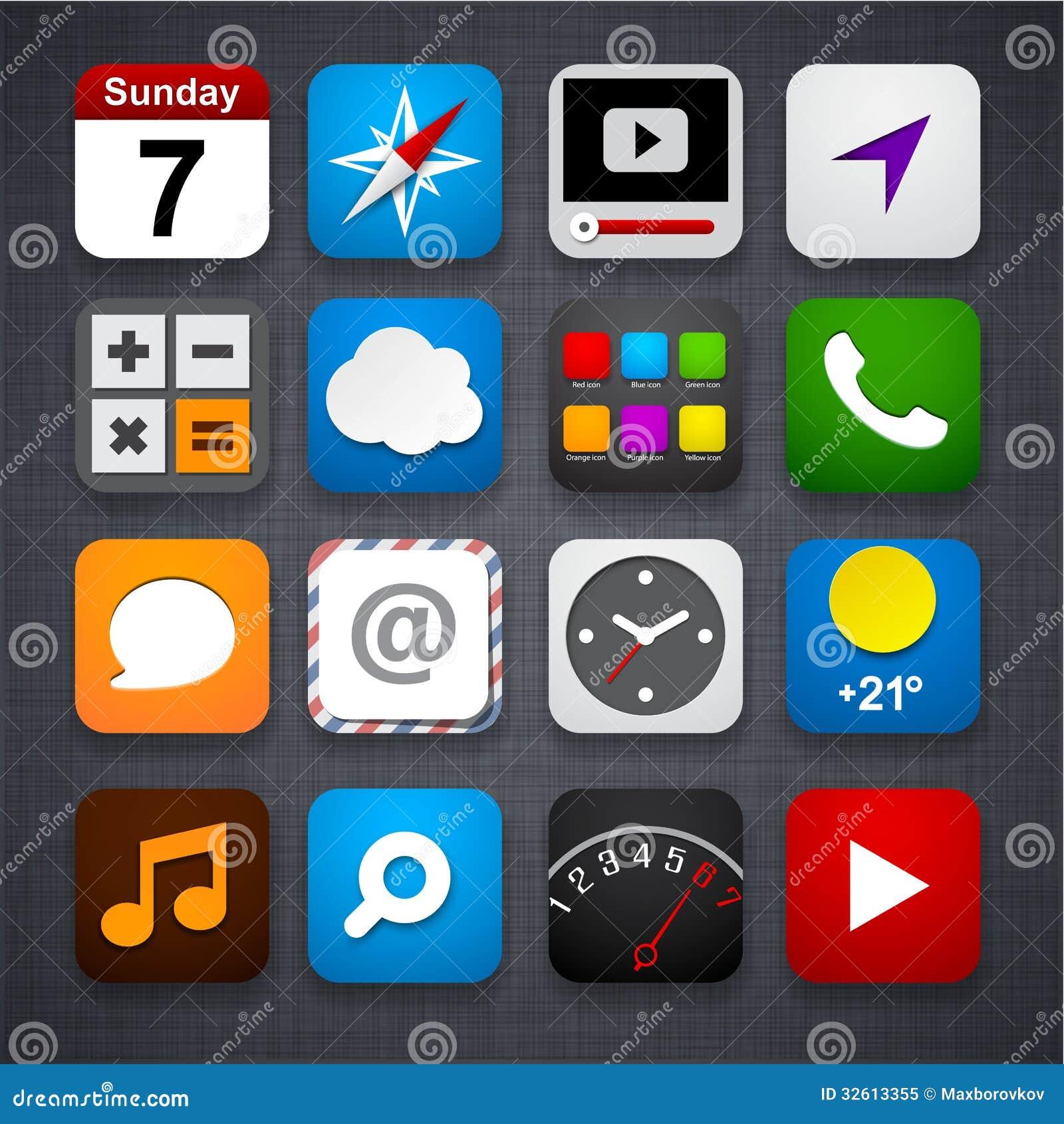 Set app ikony.