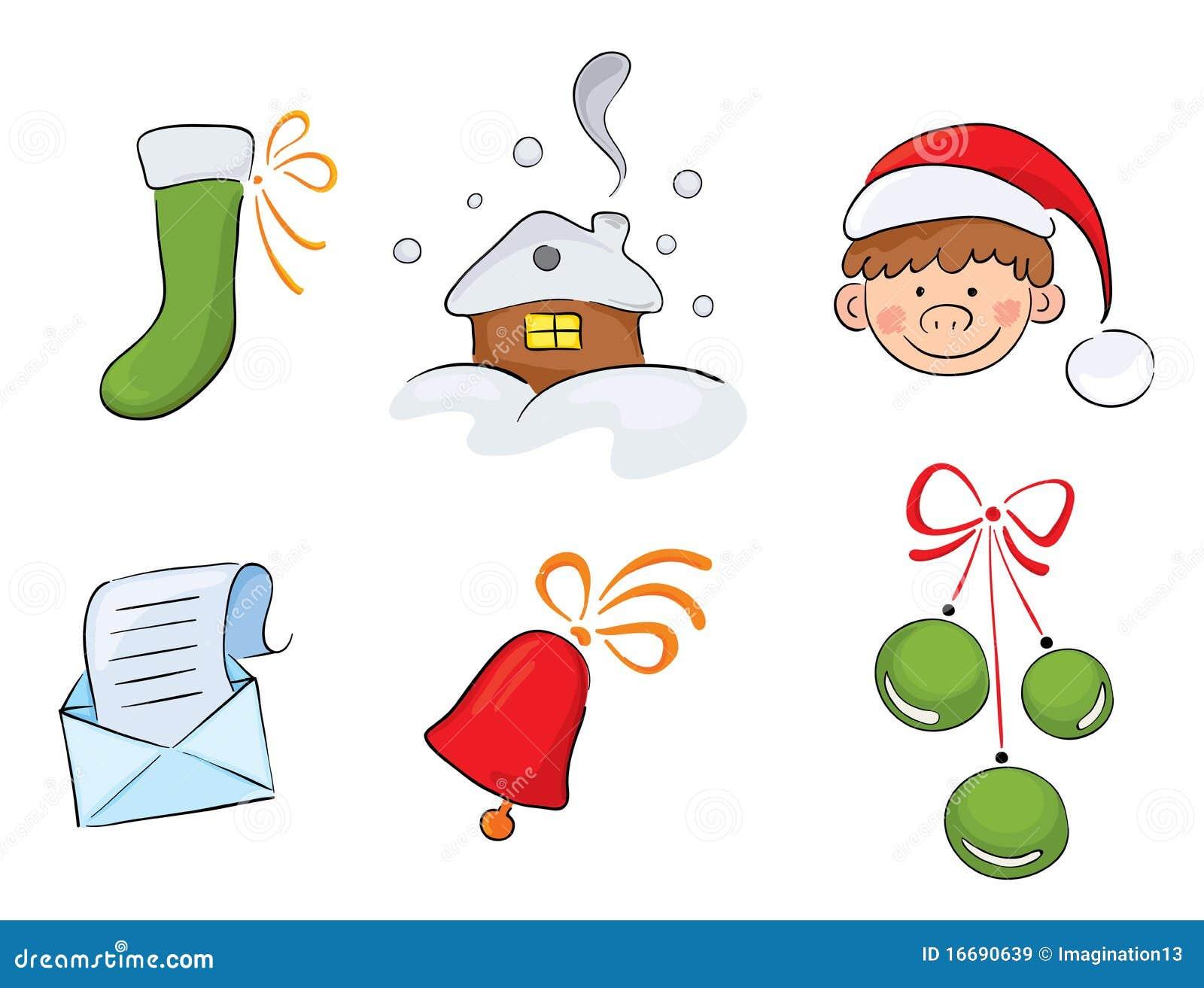 set aquarell weihnachtsbilder stock abbildung. Black Bedroom Furniture Sets. Home Design Ideas