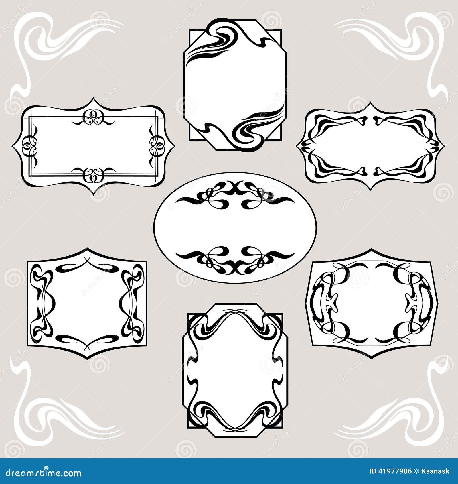 Set Of Art Deco Banners Stock Vector Image 41977906