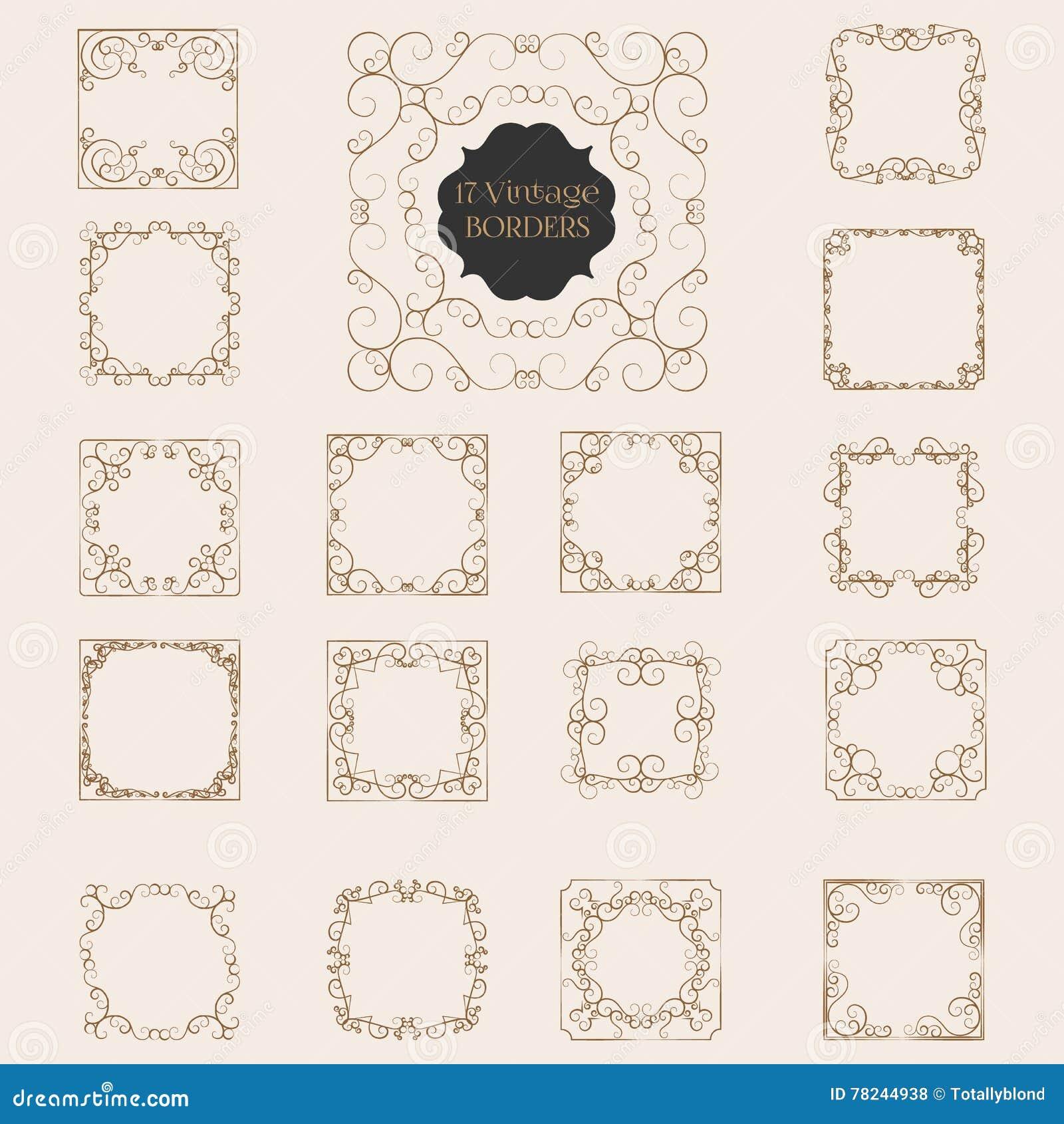 Art deco design element corner vector illustration for Element deco design