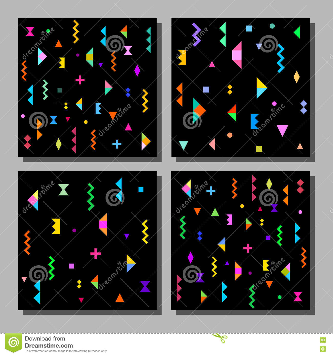Vector Illustration Set Of Artistic Colorful Universal ...