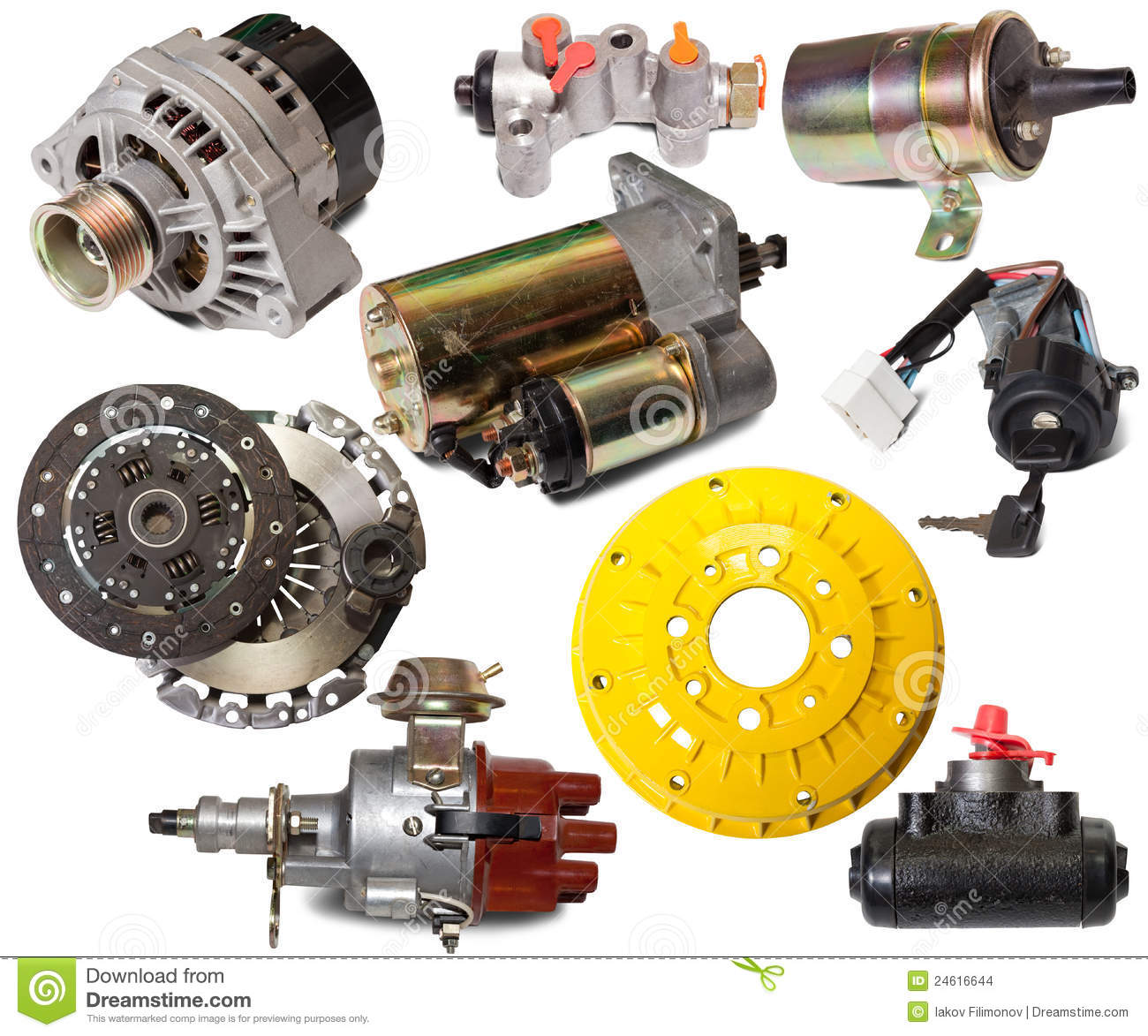 Auto Parts For Sale >> Set Of Auto Parts Stock Photo Image Of Objects Sale 24616644