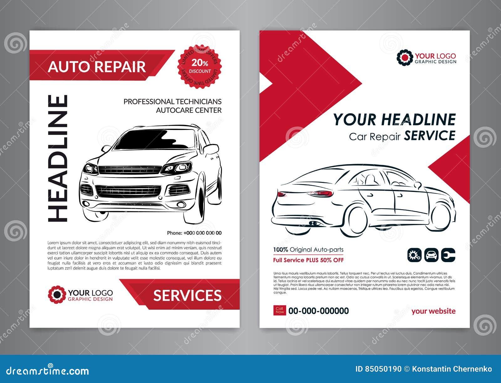 Set Auto Repair Business Layout Templates Automobile Magazine – Business Manual Templates