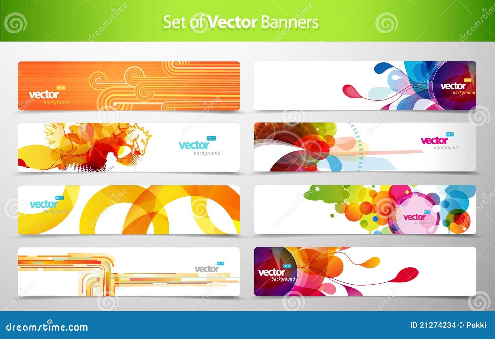Set av abstrakt färgrika rengöringsduktitelrader.
