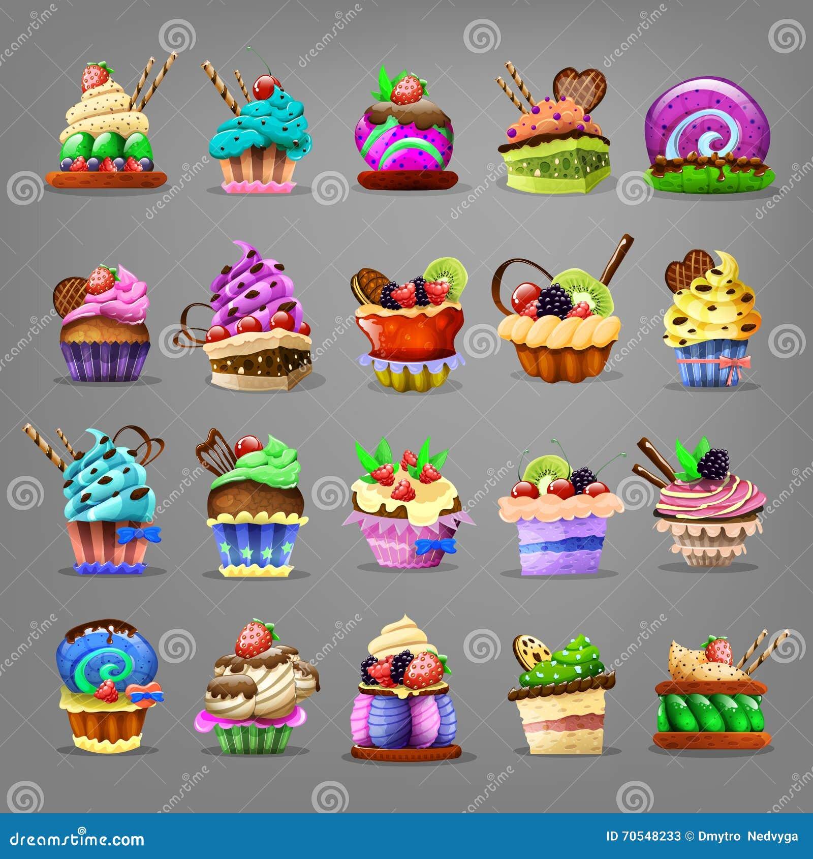Set av muffin