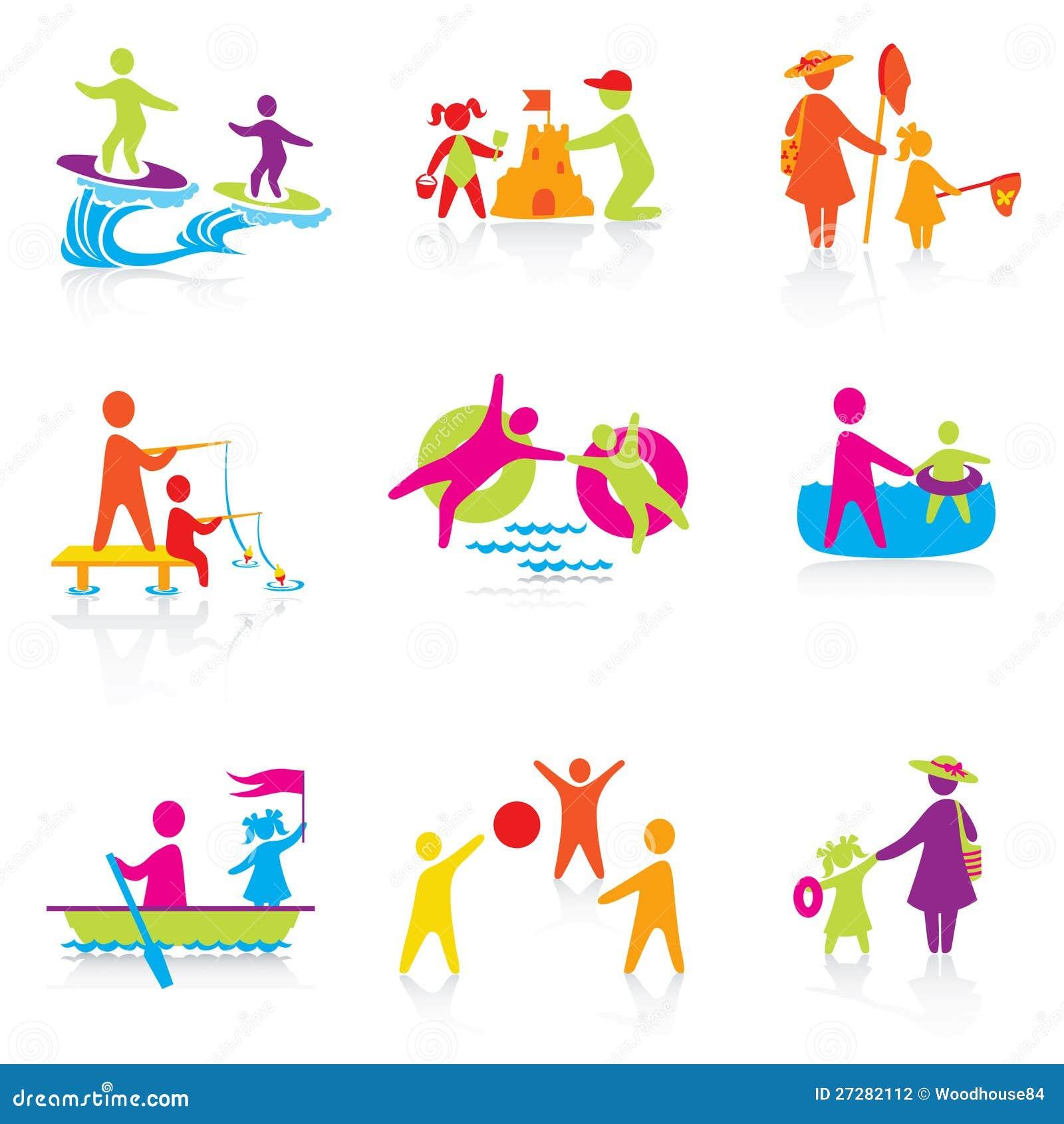 Set av symboler - sommartid