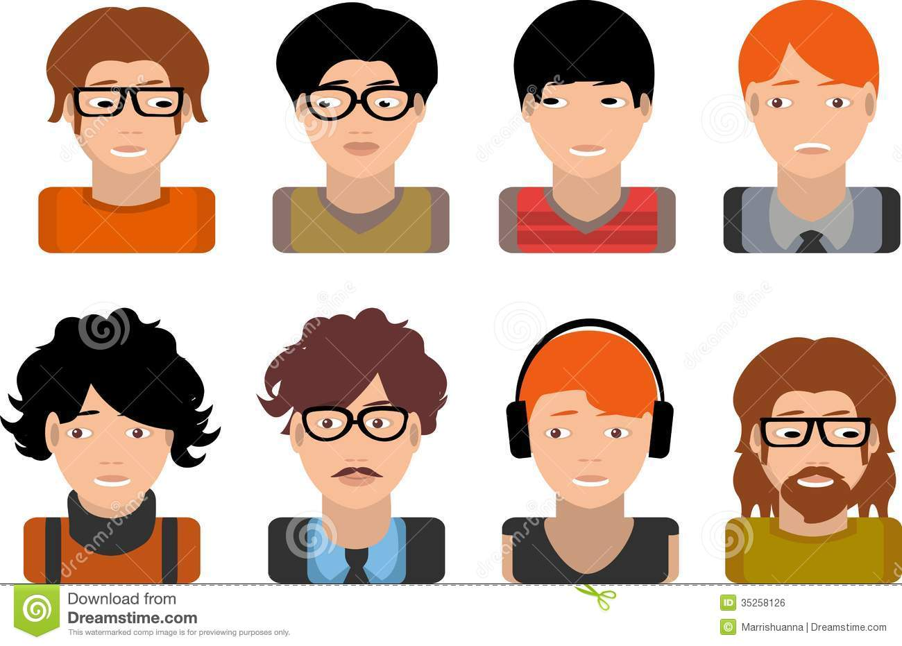 set of avatars business stock vector illustration of characters