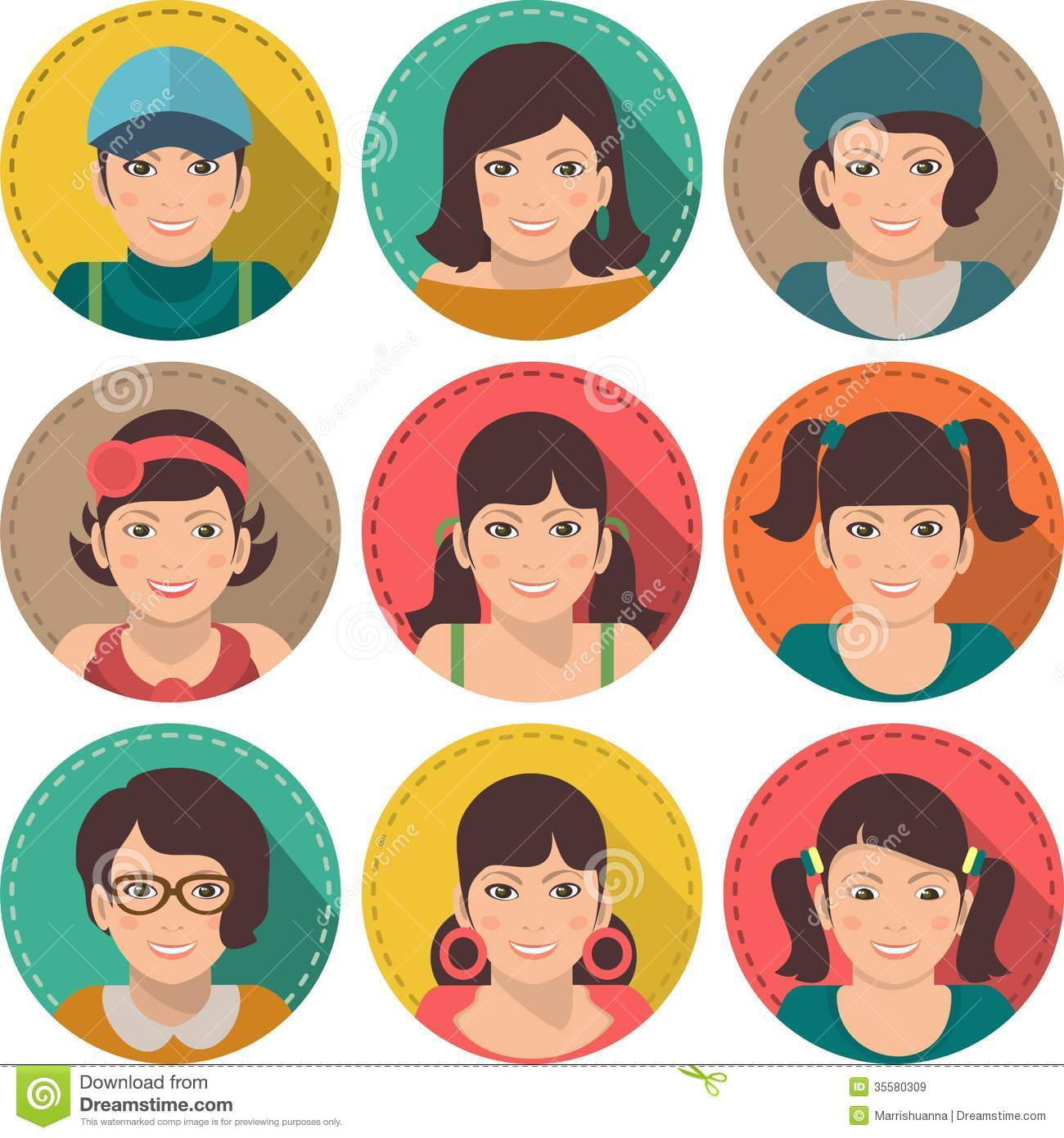 Set Of Avatars Business Stock Vector. Image Of People