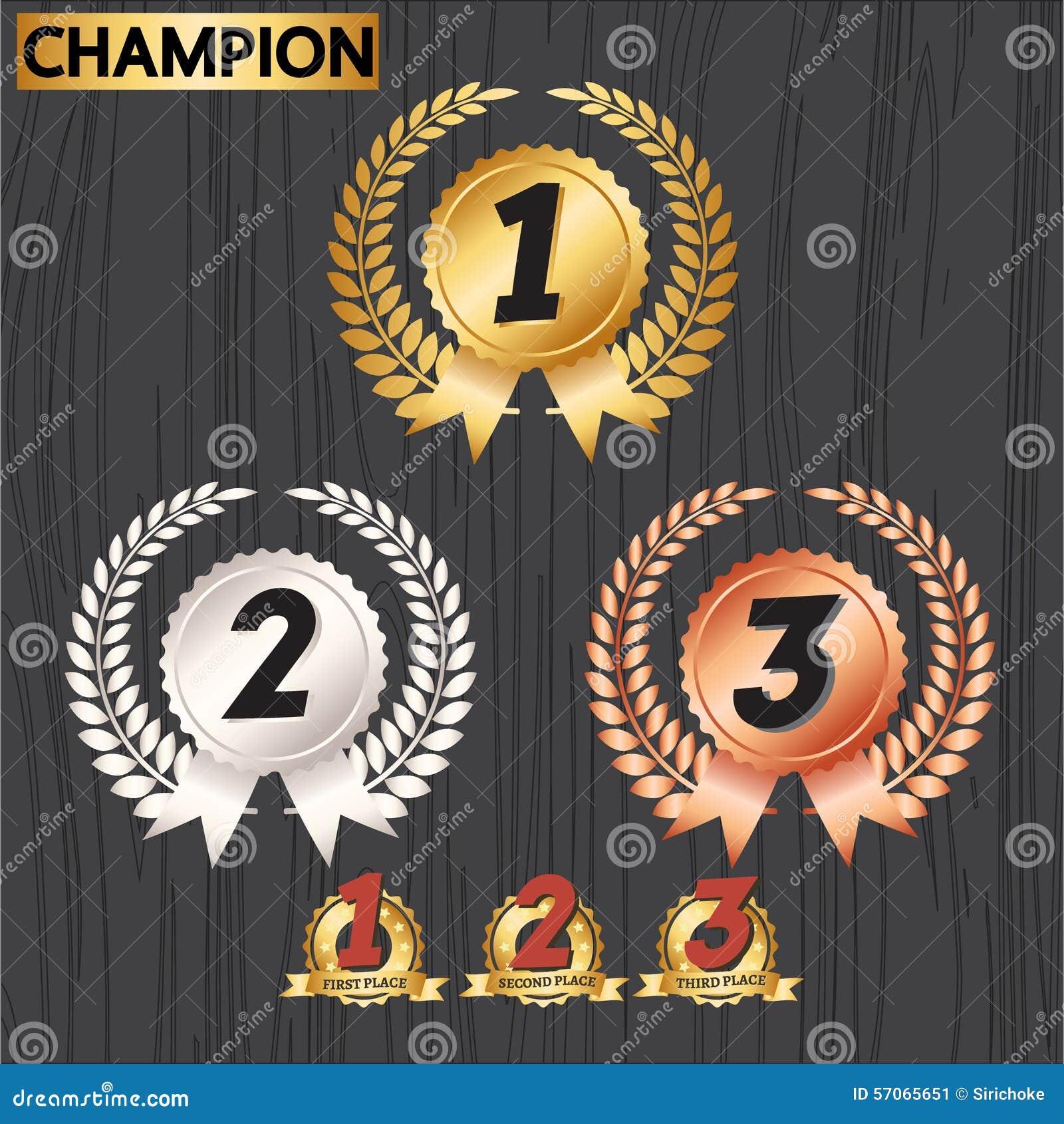 Set of award badges award decoration icons stock vector for Award decoration