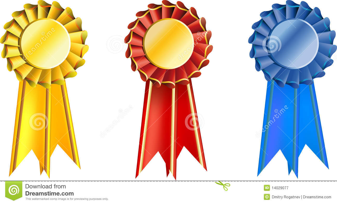 Set Award Ribbons Stock Vector Illustration Of Symbol 14029077