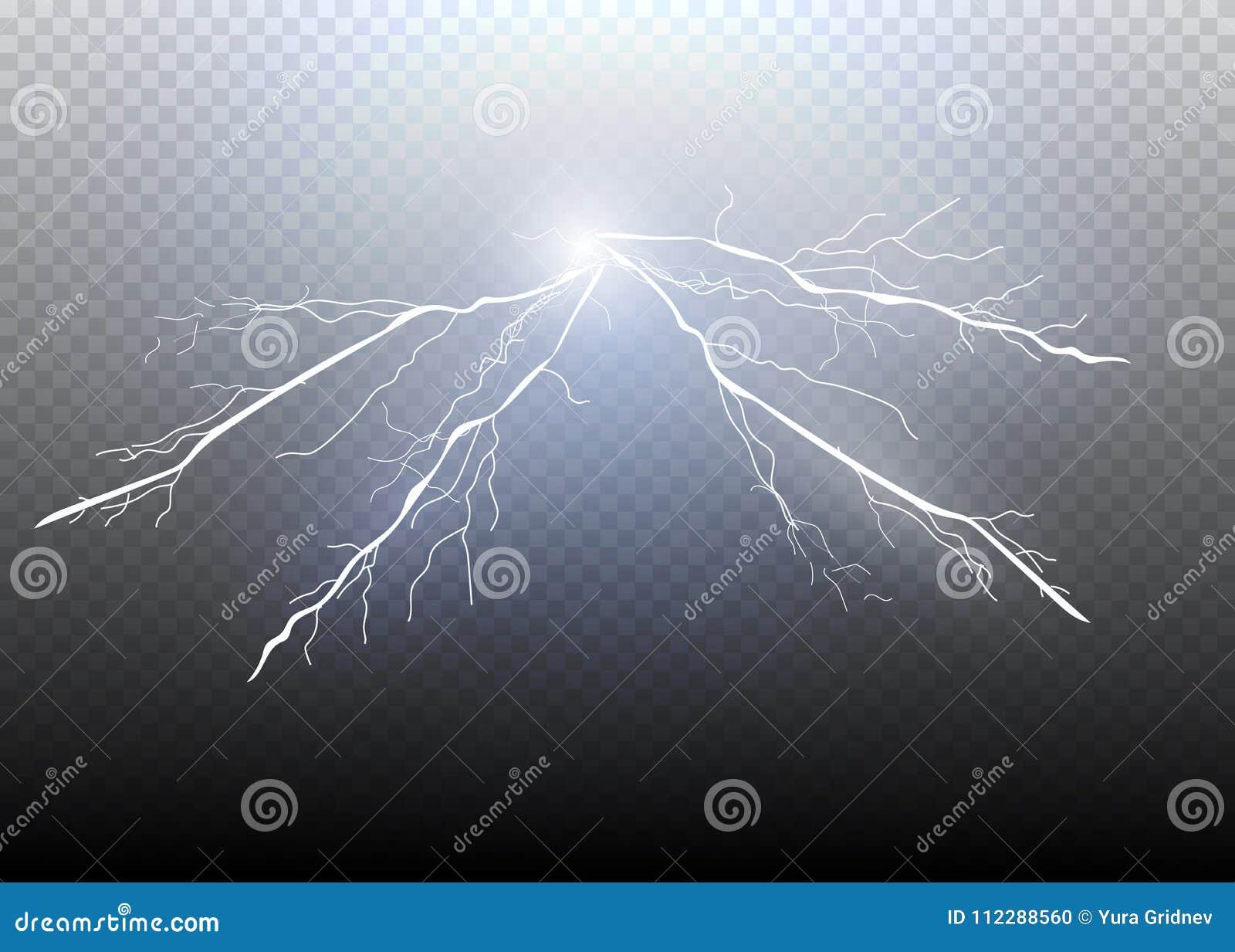 Set błyskawicowa magia i jaskrawi lekcy skutki również zwrócić corel ilustracji wektora Rozładowanie elektryczny prąd