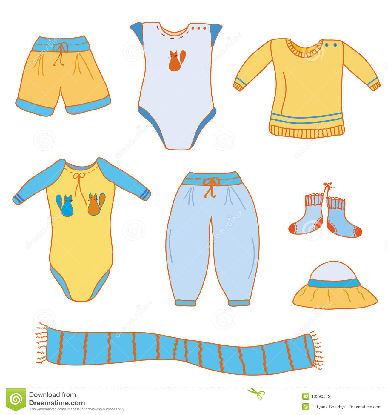 set of baby boy clothes stock photography image 13390572. Black Bedroom Furniture Sets. Home Design Ideas
