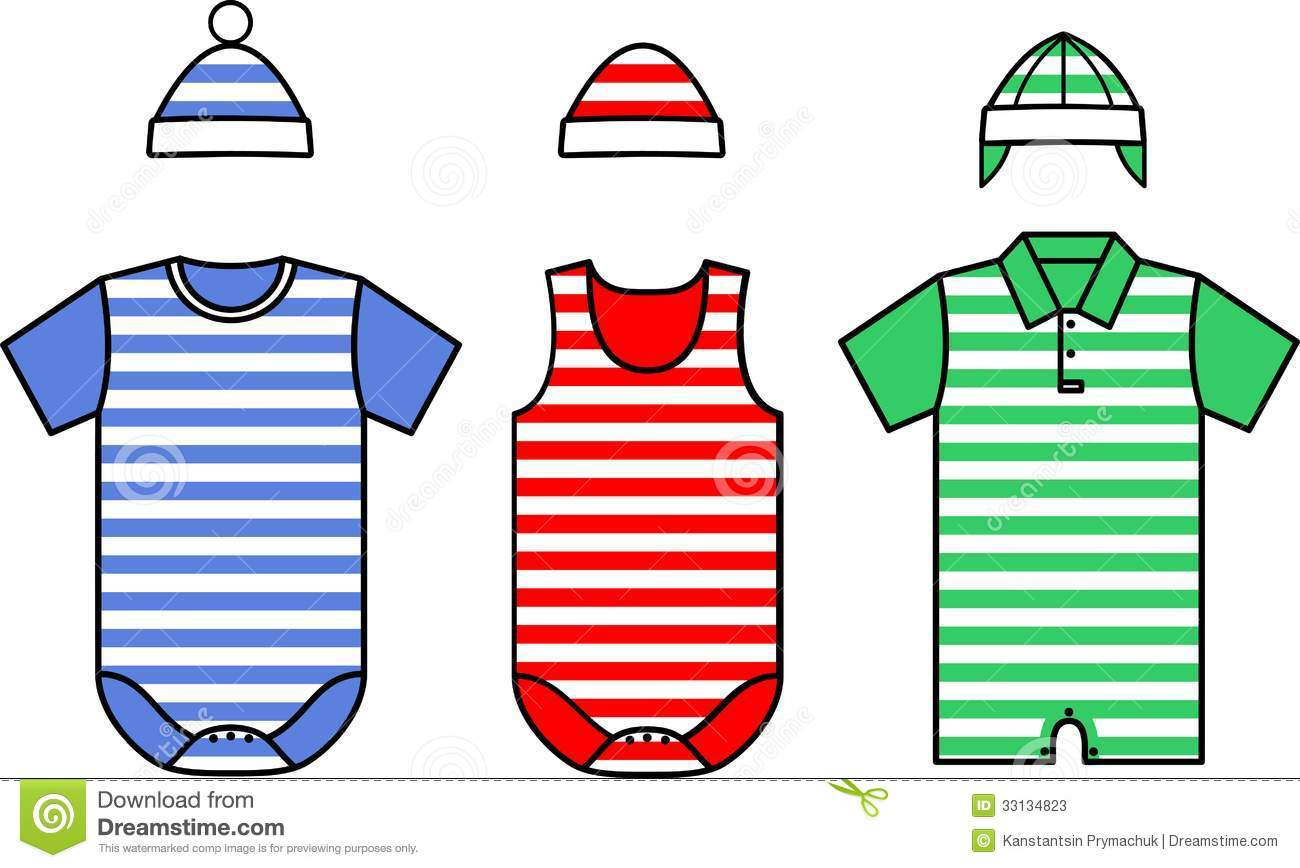 set of the baby clothes vector stock vector image 33134823