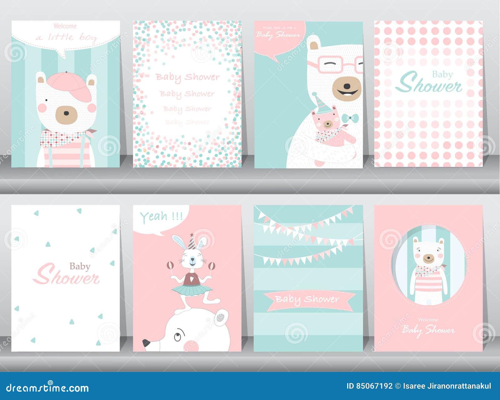 Set of baby shower invitation cardsbirthdaypostertemplate download set of baby shower invitation cardsbirthdaypostertemplategreeting cards maxwellsz