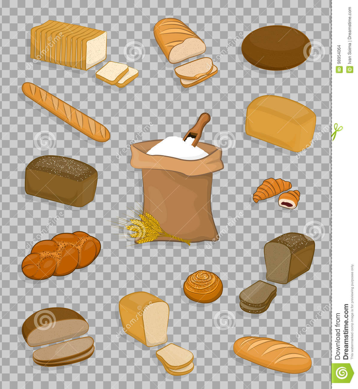 set of bakery and confectionery isolated on a transparent background stock vector illustration of kitchen drawn 98954064 https www dreamstime com stock illustration set bakery confectionery isolated transparent background bag flour shovel ears wheat barley rye image98954064