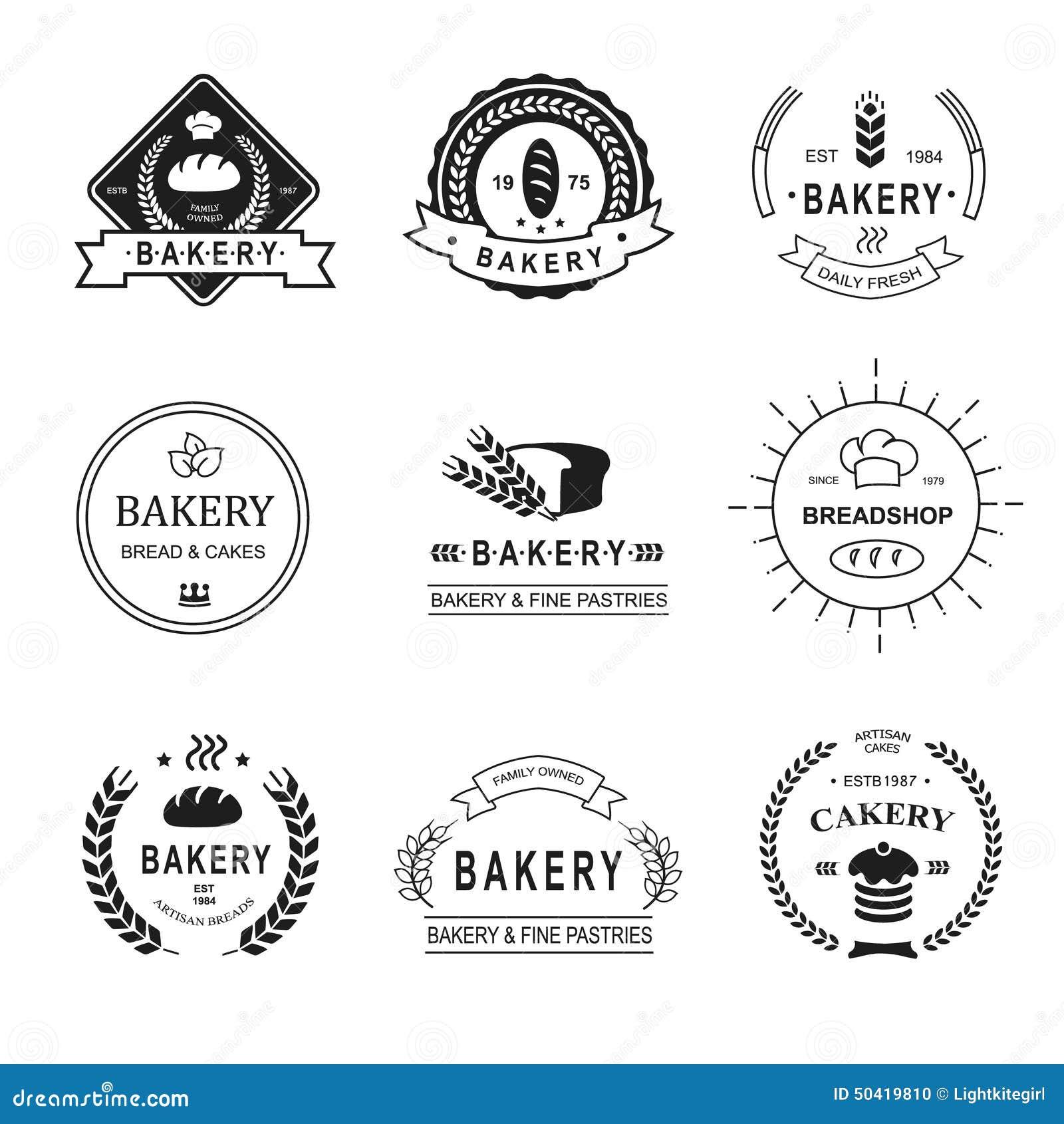 Set of bakery logos, labels, badges and design