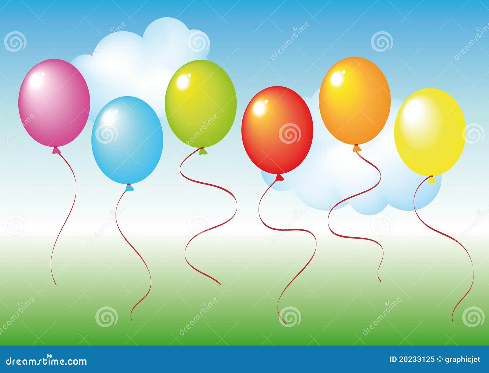Set of balloons...