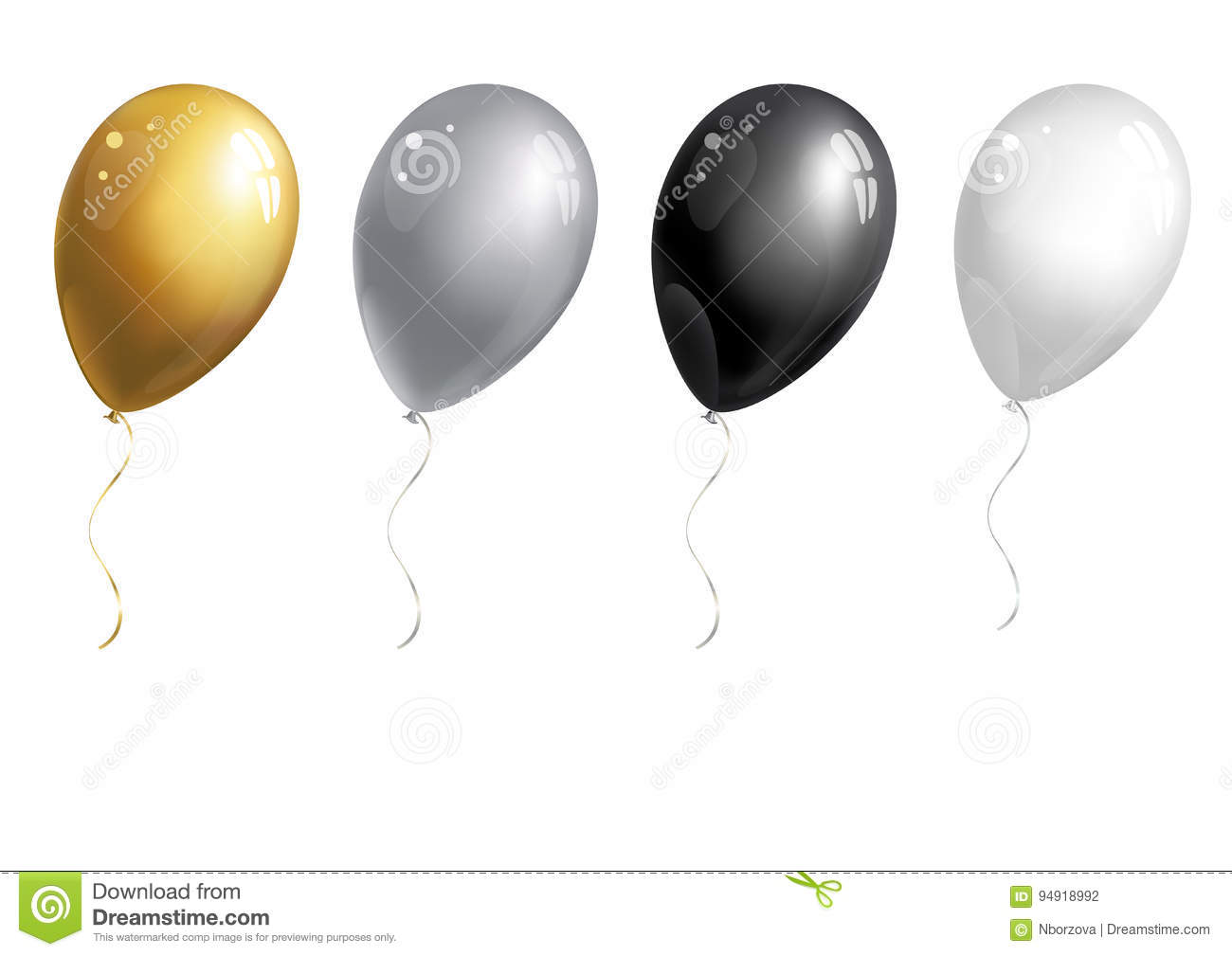 Set of balloons