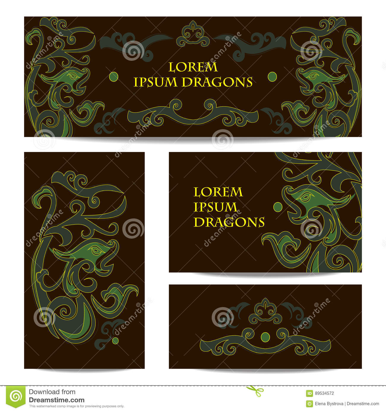 Green Dragons Banners Ecommerce Shop Banners