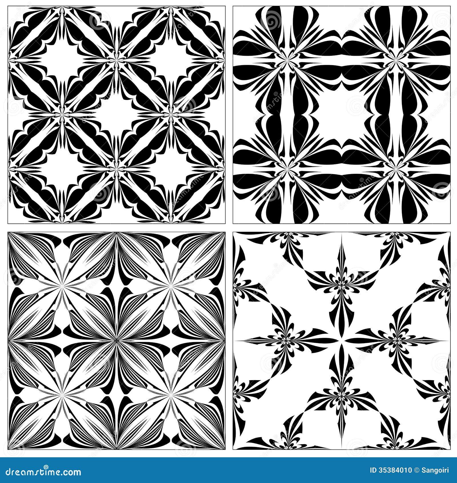 set of baroque tiles stock photo image 35384010. Black Bedroom Furniture Sets. Home Design Ideas