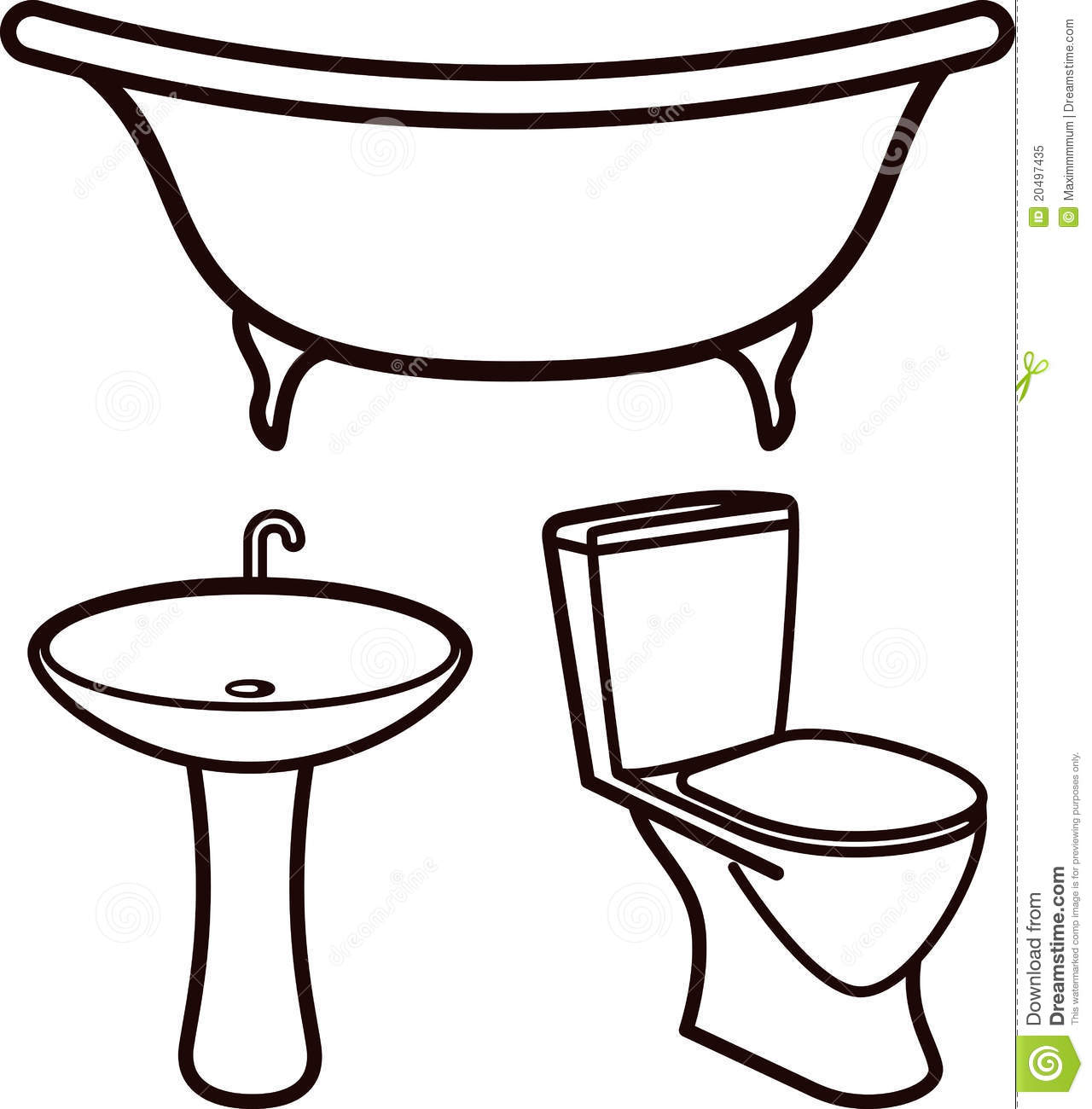 Bathroom Cartoon Clip Art