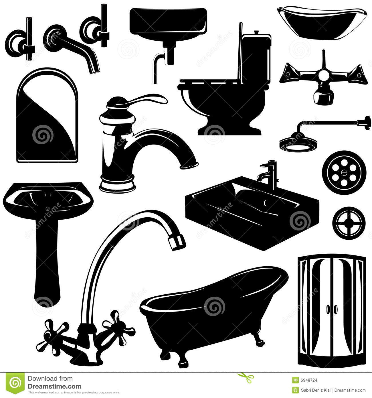 Set Of Bathroom Objects Vector Stock Images