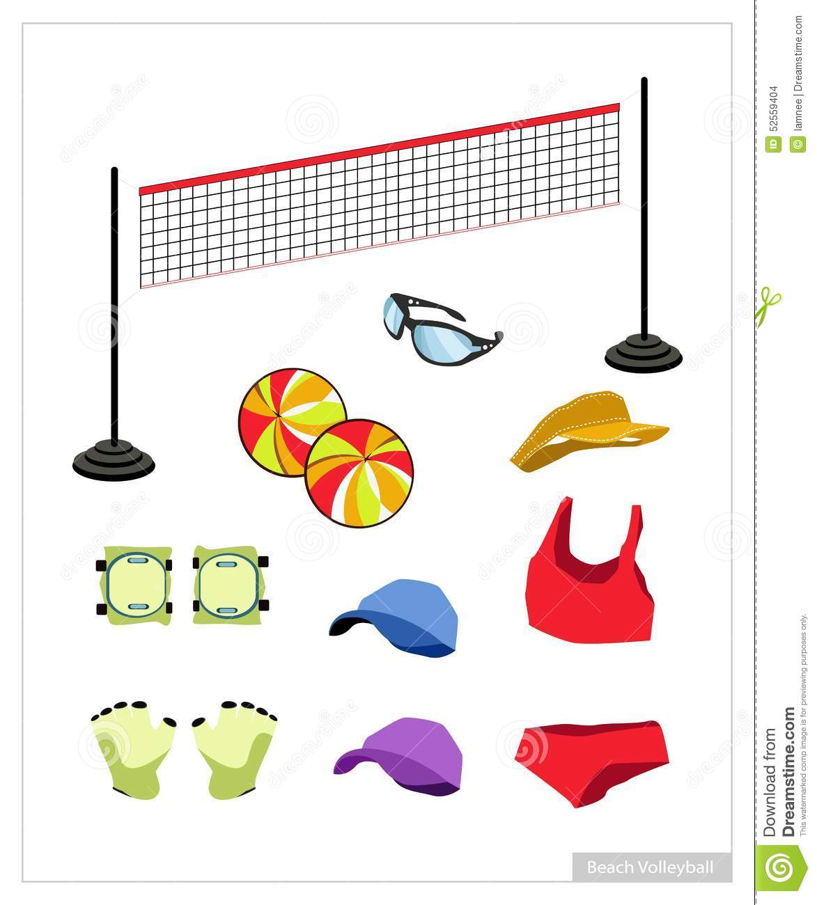 set of beach volleyball equipment on white background uniform clipart drawing uniform clipart police officer
