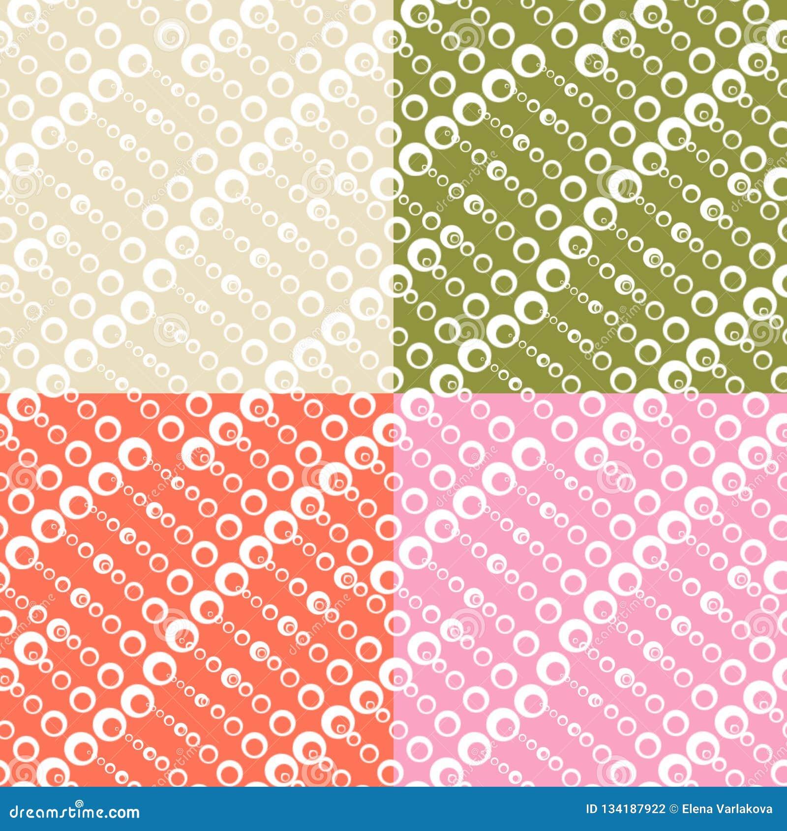Set bezszwowe tekstury z okręgami różni rozmiary