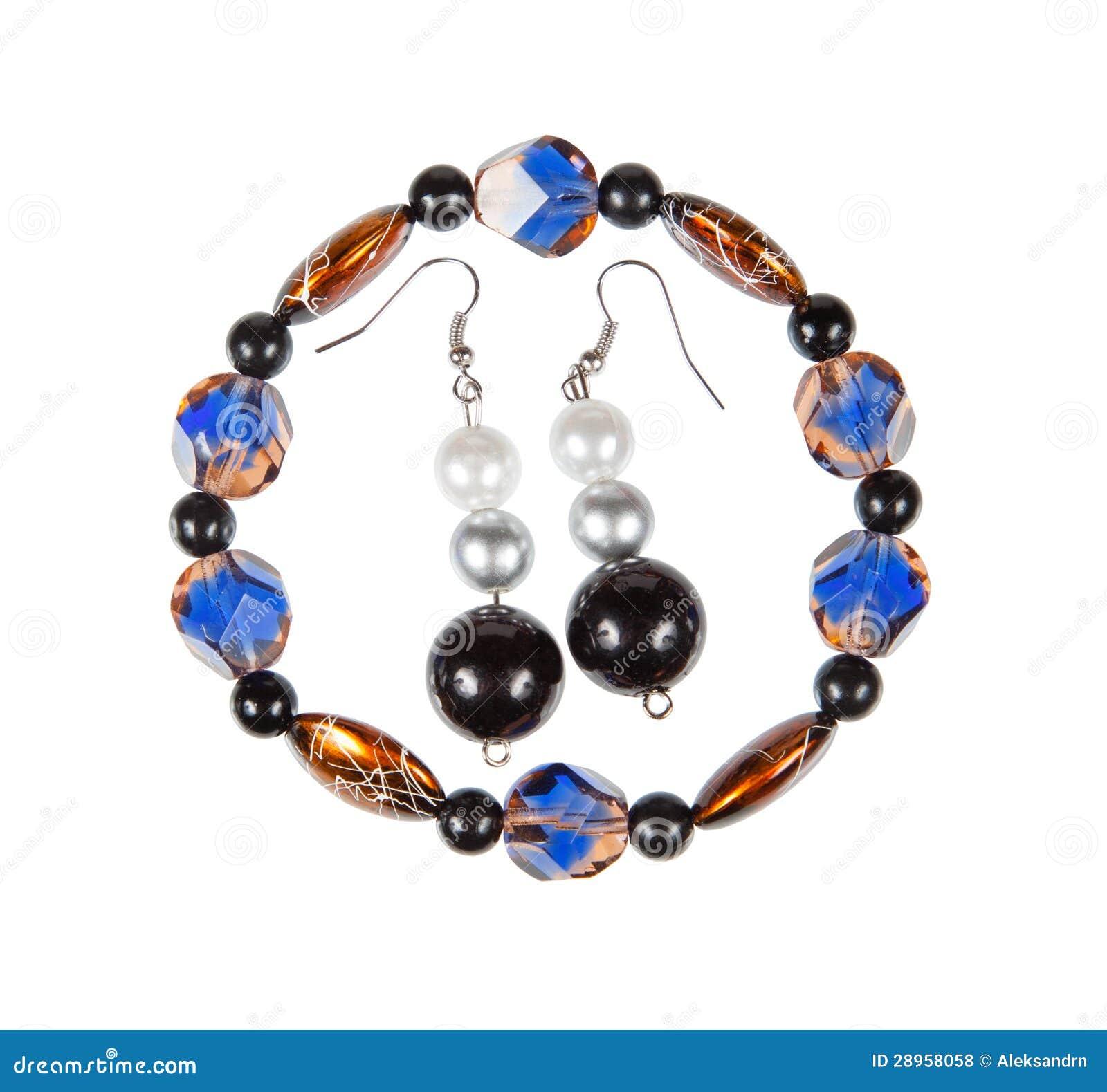 Set biżuteria. Bransoletka i kolczyki