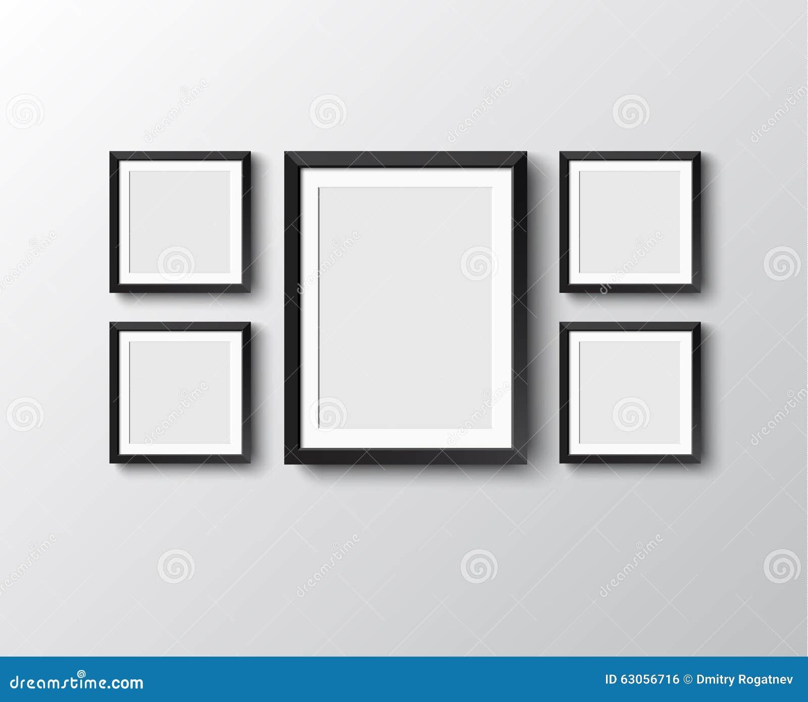 Set Bilderrahmen vektor abbildung. Illustration von haupt - 63056716