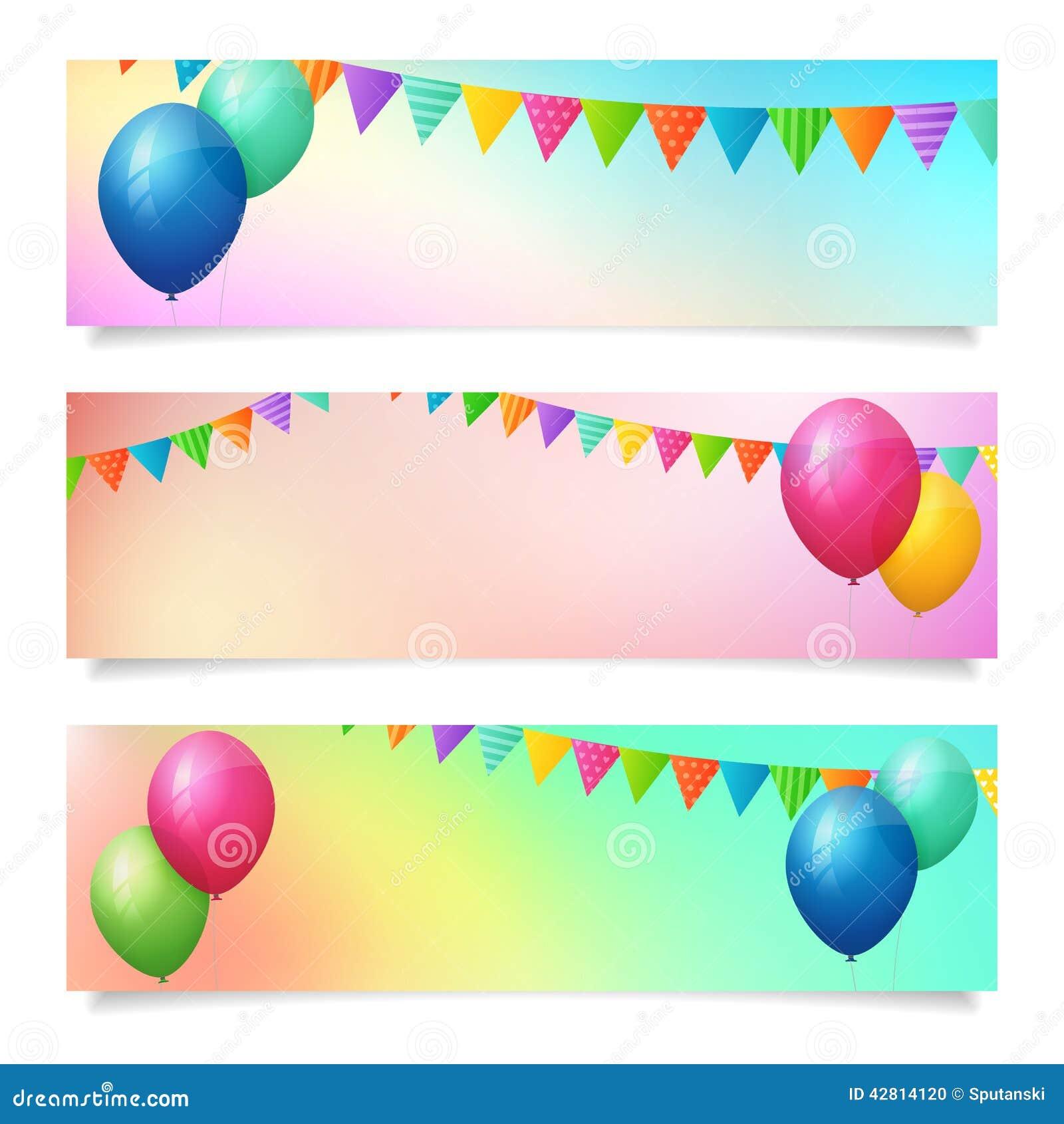 birthday banner background