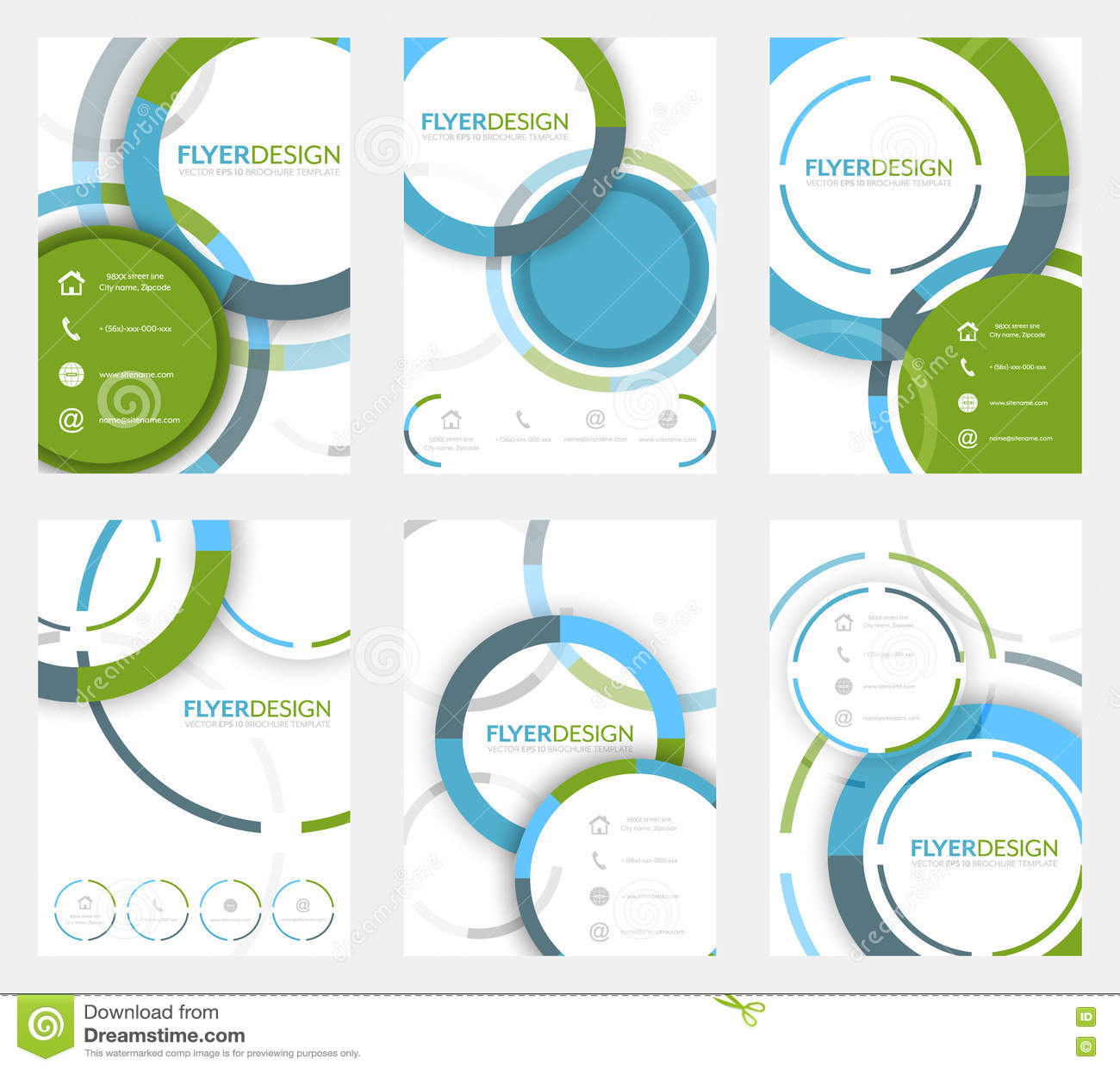 Set biznesowy ulotka szablon, broszurka lub korporacyjny sztandar z kurenda wzorem, A4 rozmiar