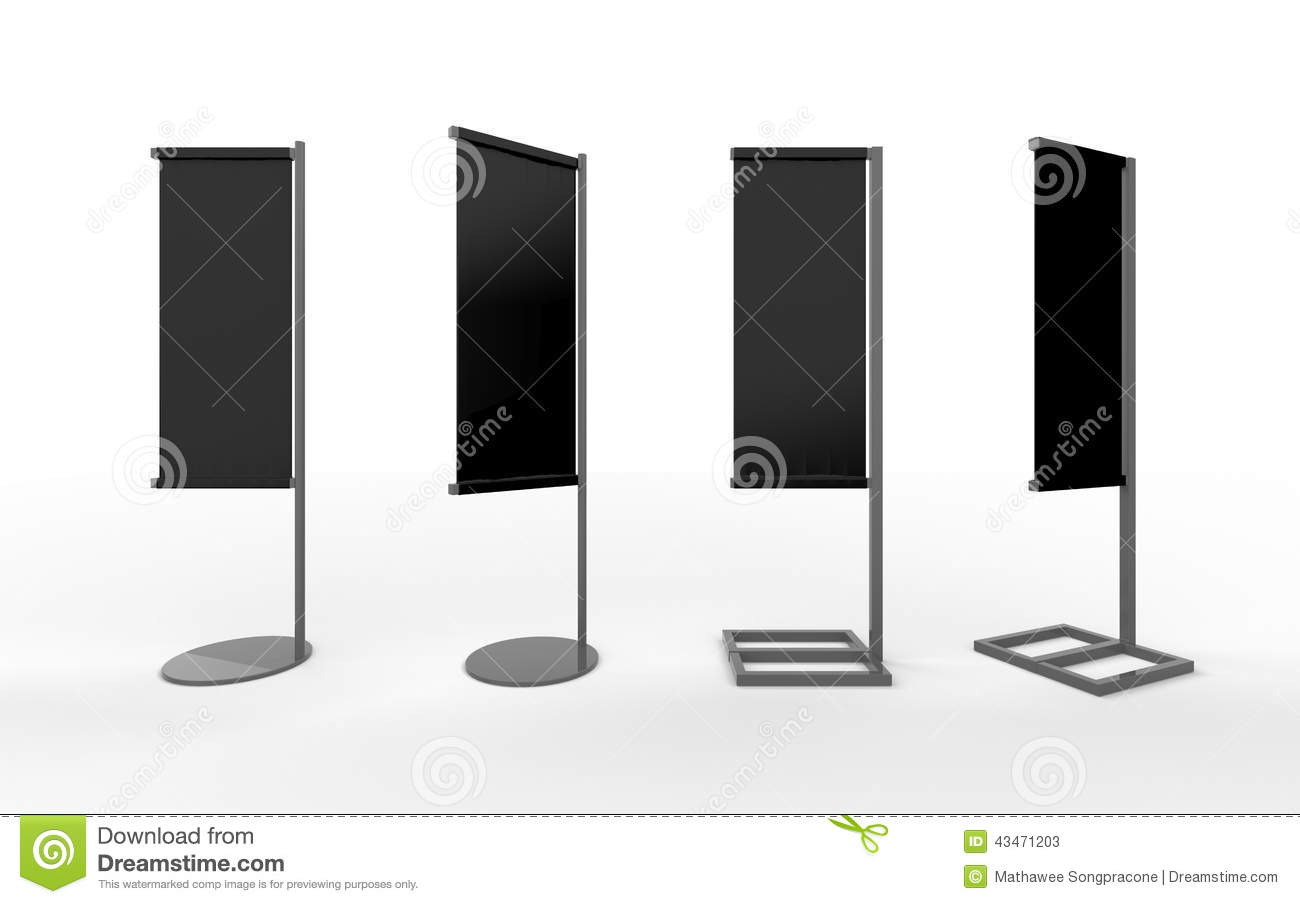 set of black blank banner japanese flag display with aluminum f, Powerpoint templates