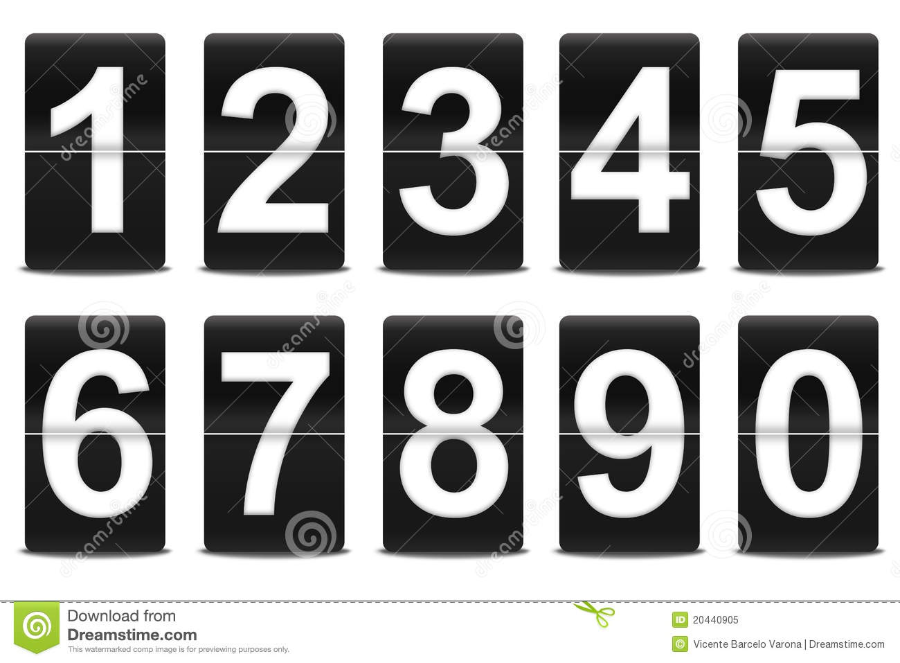 Set Of Black Flip Numbers Royalty Free Stock Photo - Image: 20440905