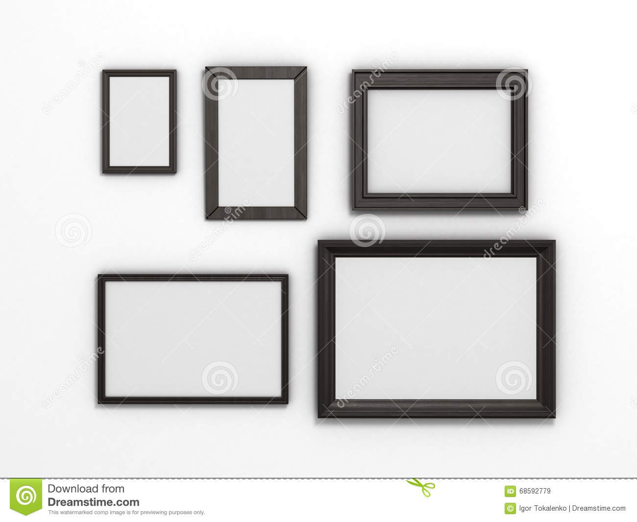 Set of black frames of different sizes on a white background stock set of black frames of different sizes on a white background jeuxipadfo Gallery