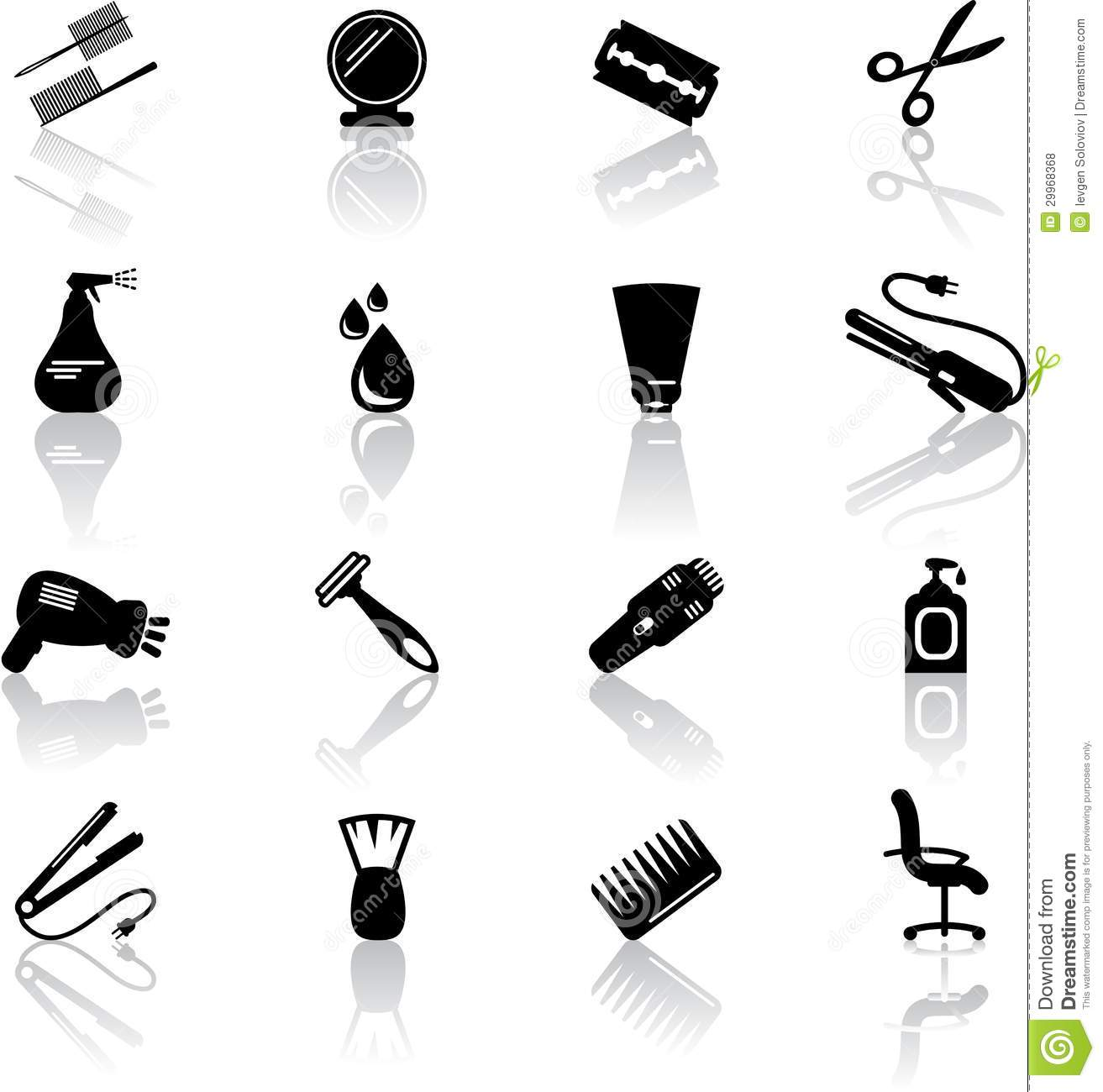 hair salon icons royalty free stock photos image 29968368 tooth clipart google tooth clip art coloring page