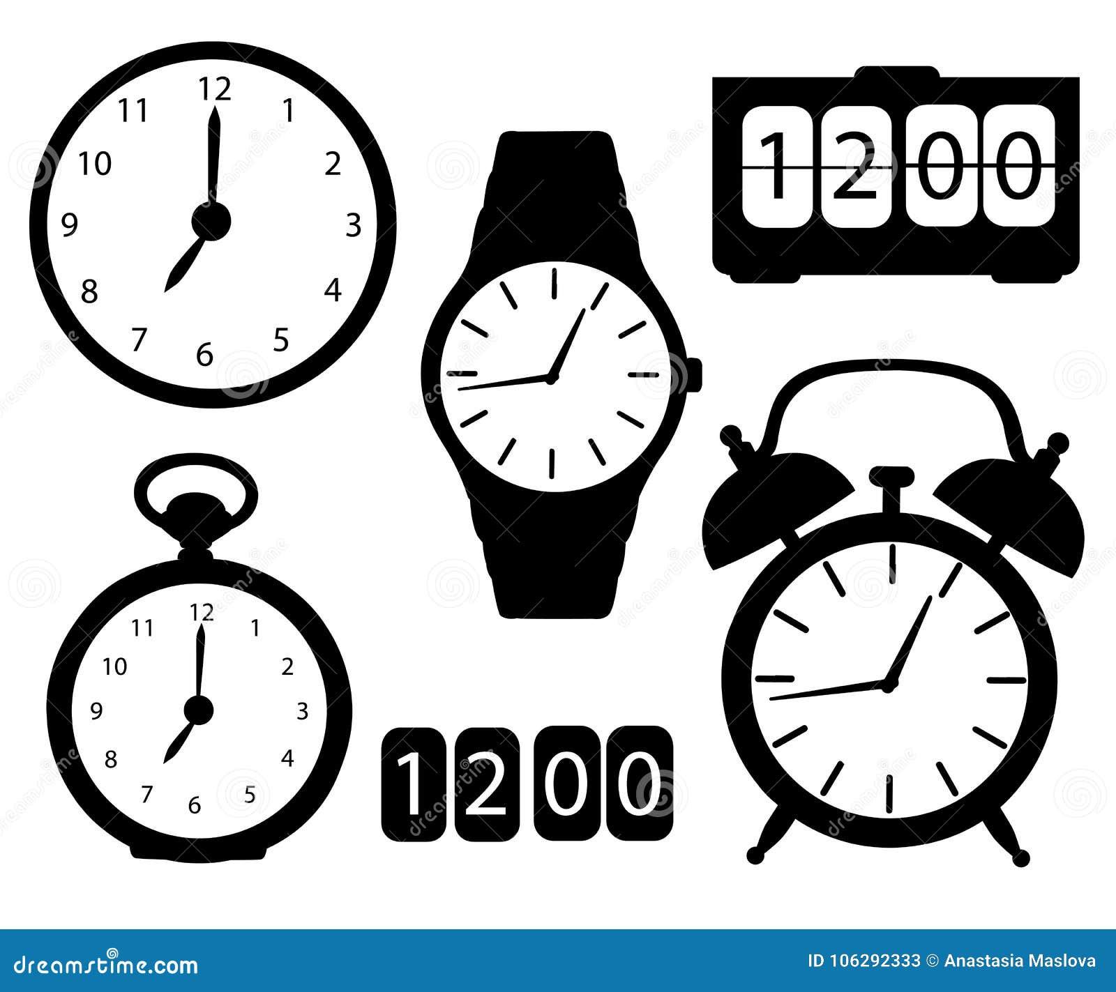 clock cartoon stock images