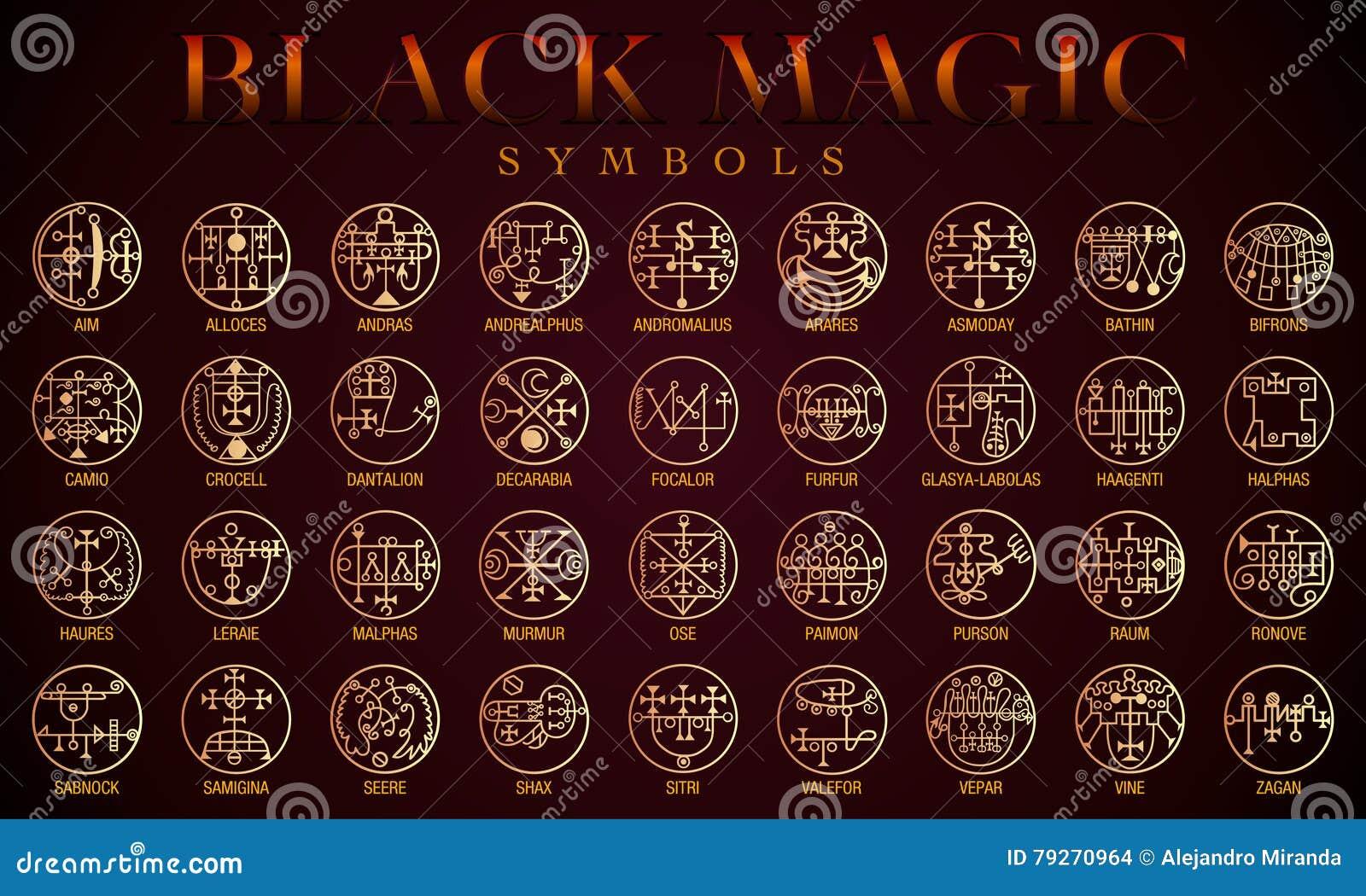 Set of black magic symbols stock vector illustration of logo 79270964 set of black magic symbols biocorpaavc Images